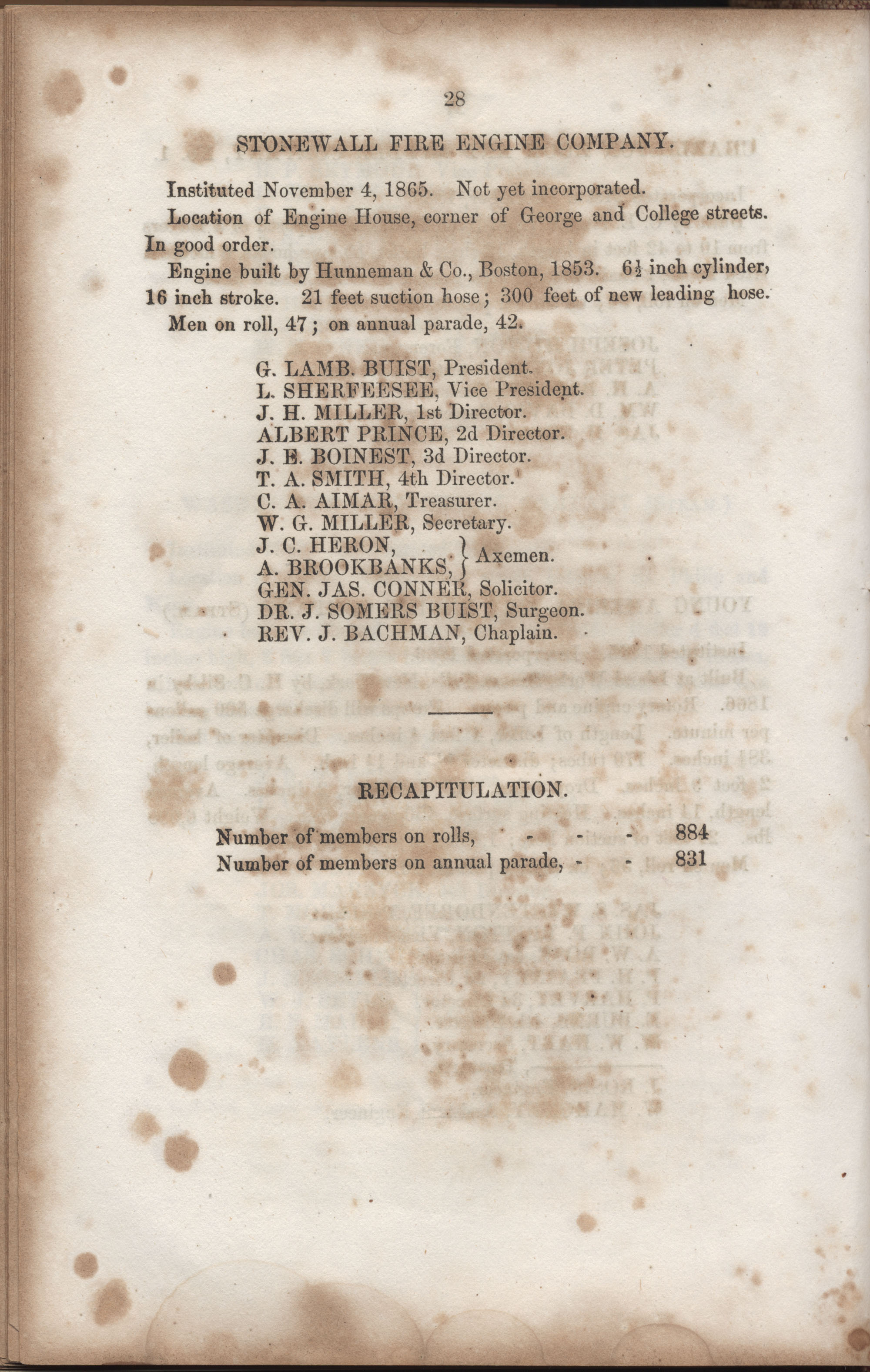 Annual Report of the Chief of the Fire Department of the City of Charleston, page 170