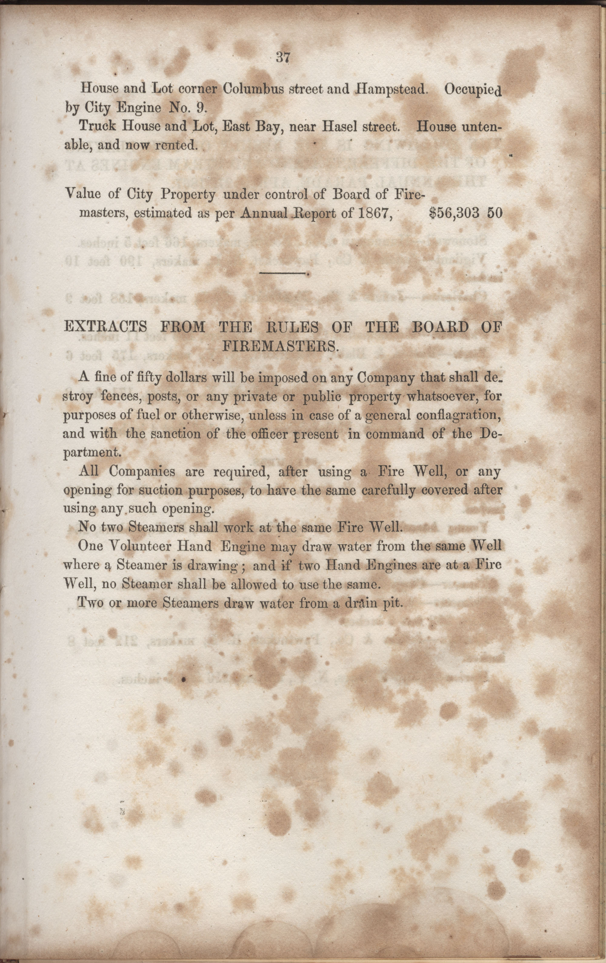 Annual Report of the Chief of the Fire Department of the City of Charleston, page 179