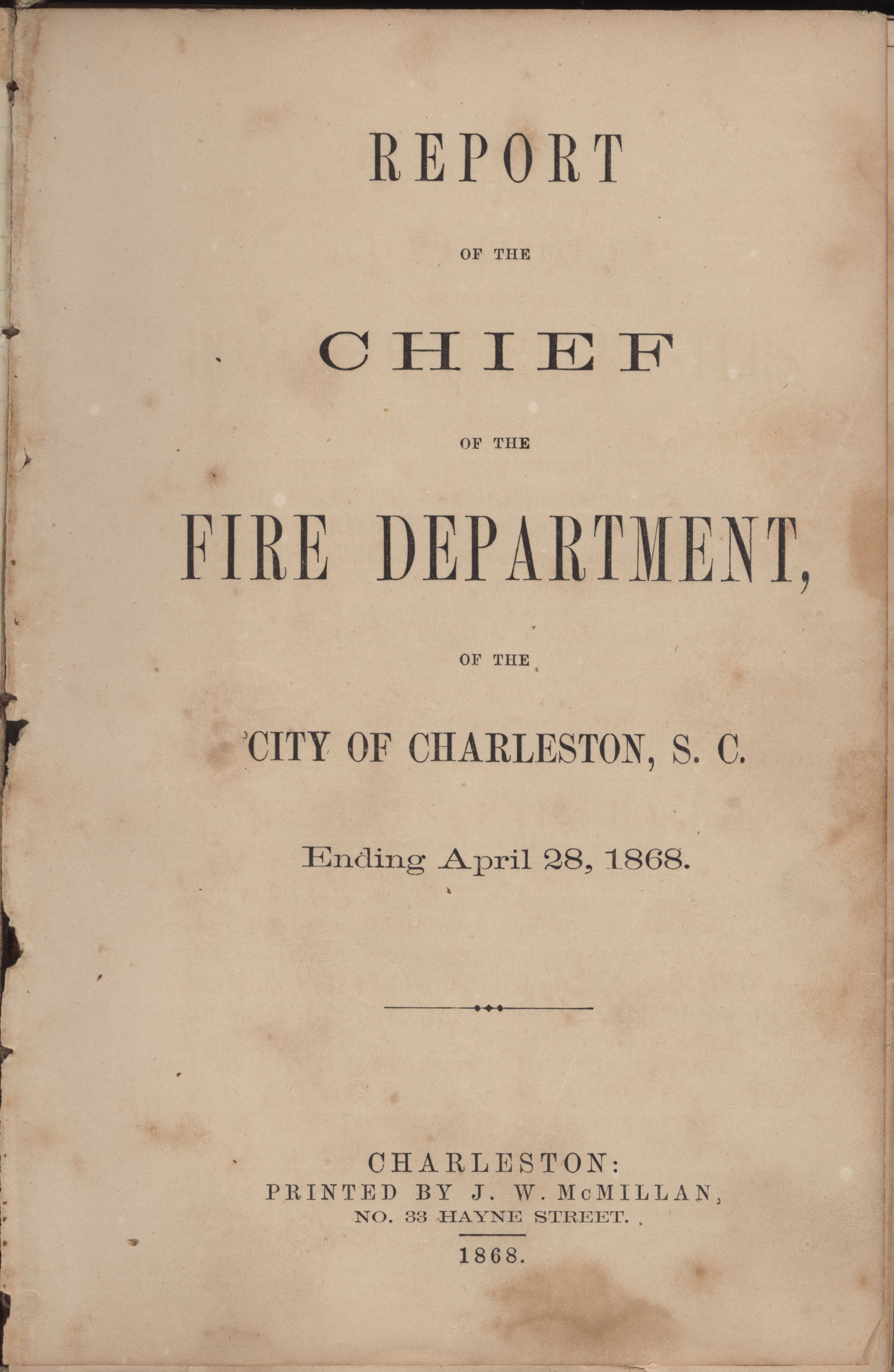 Annual Report of the Chief of the Fire Department of the City of Charleston, page 181