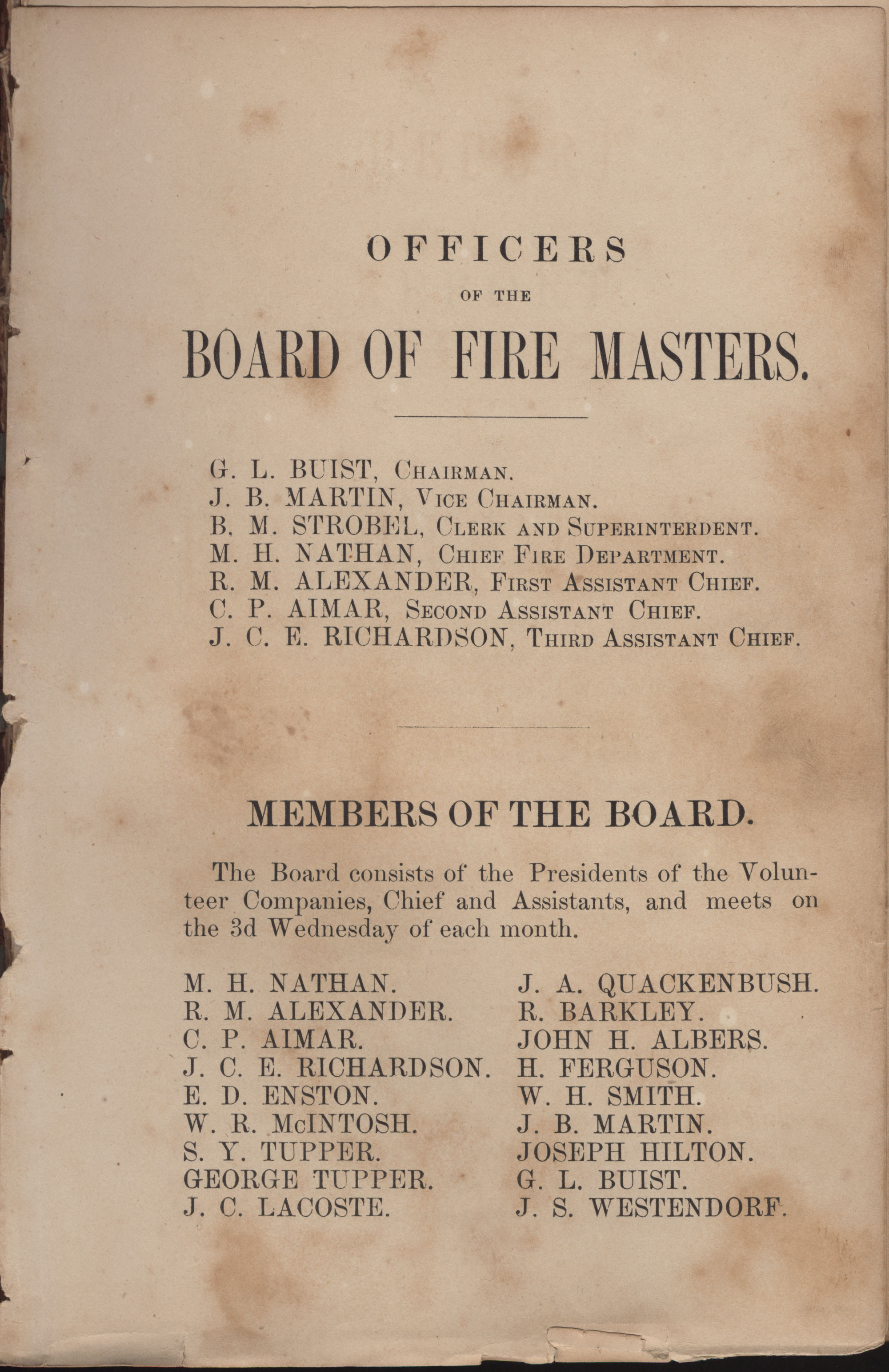 Annual Report of the Chief of the Fire Department of the City of Charleston, page 182
