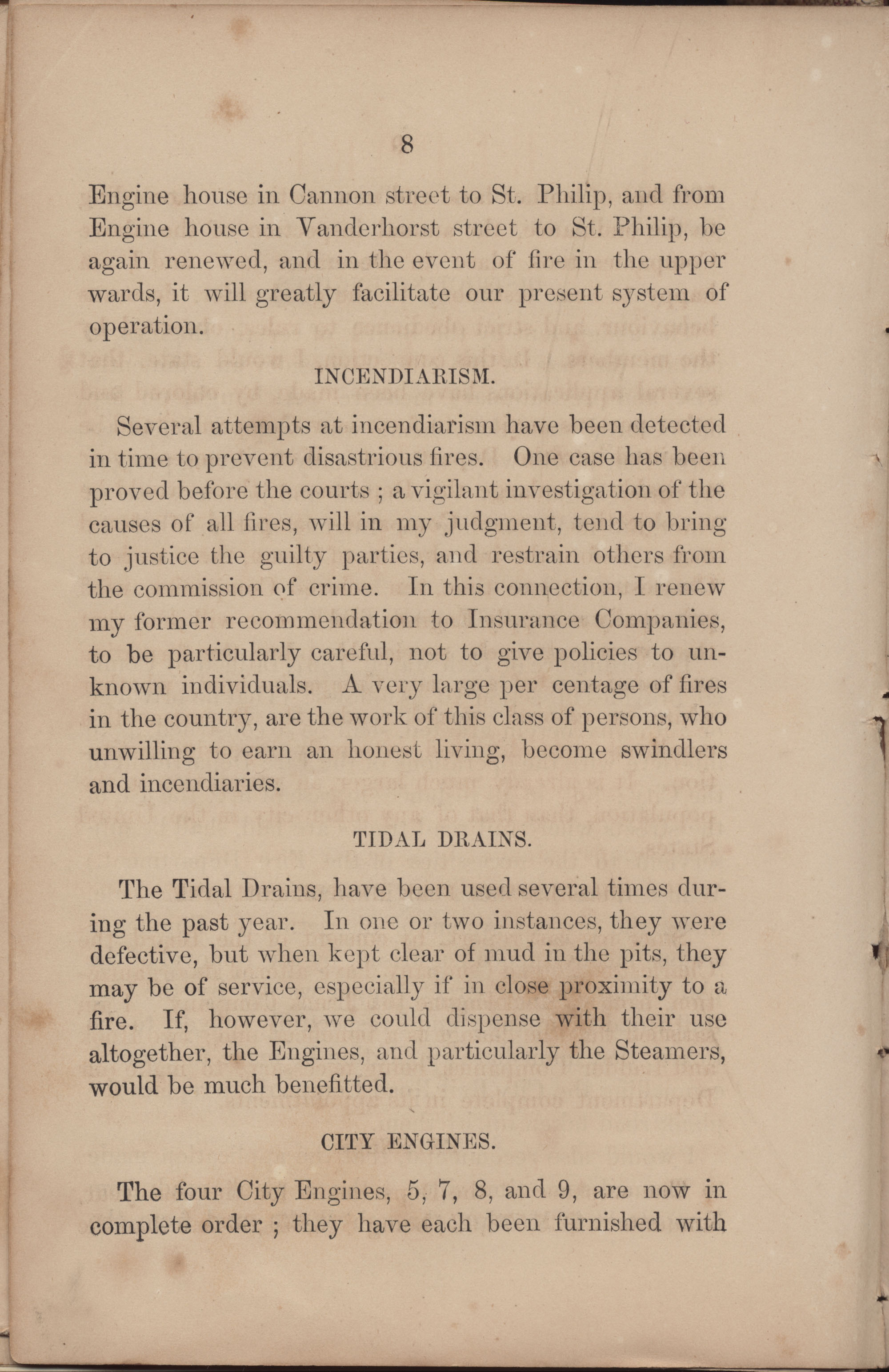 Annual Report of the Chief of the Fire Department of the City of Charleston, page 186