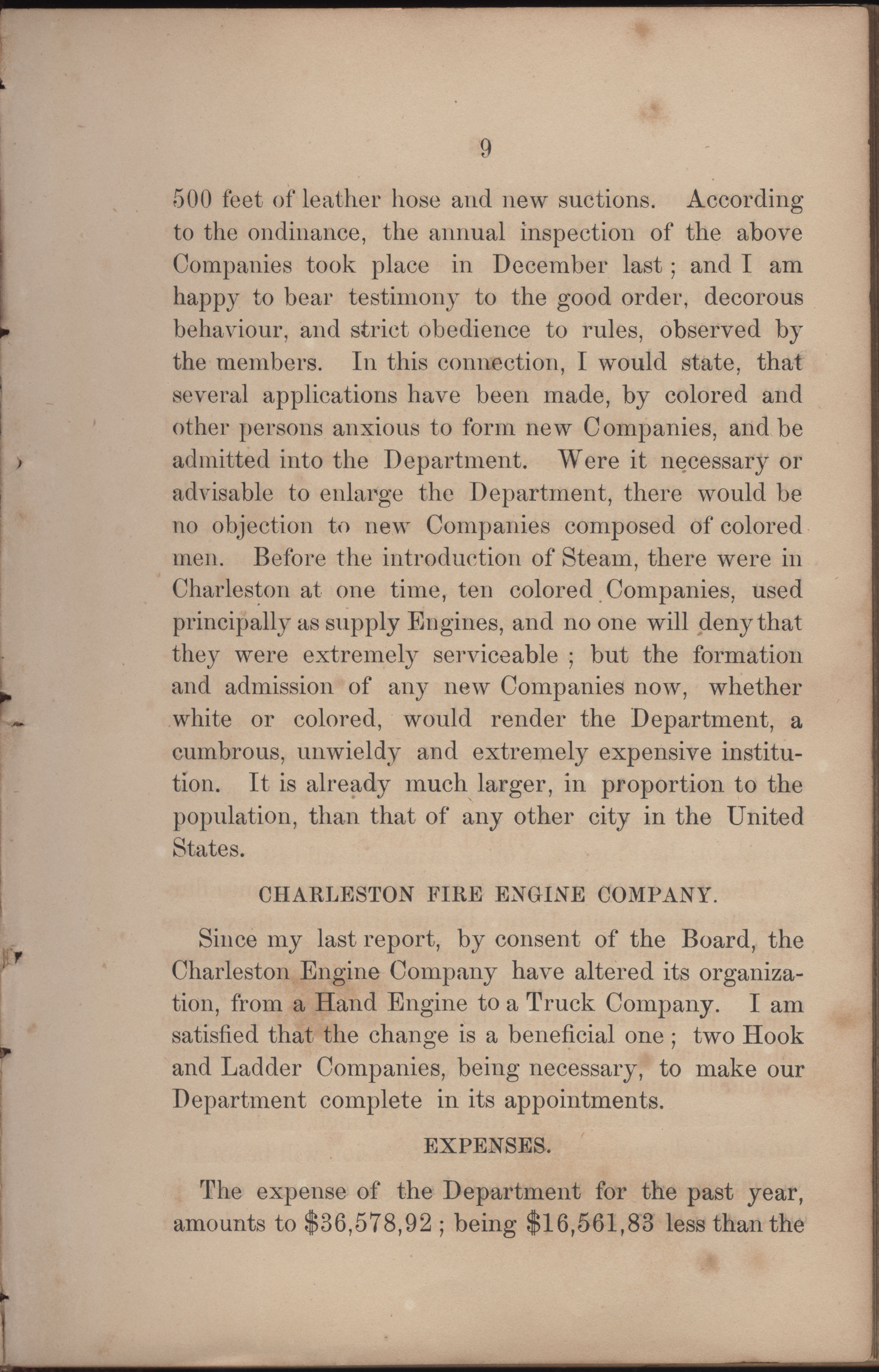 Annual Report of the Chief of the Fire Department of the City of Charleston, page 187