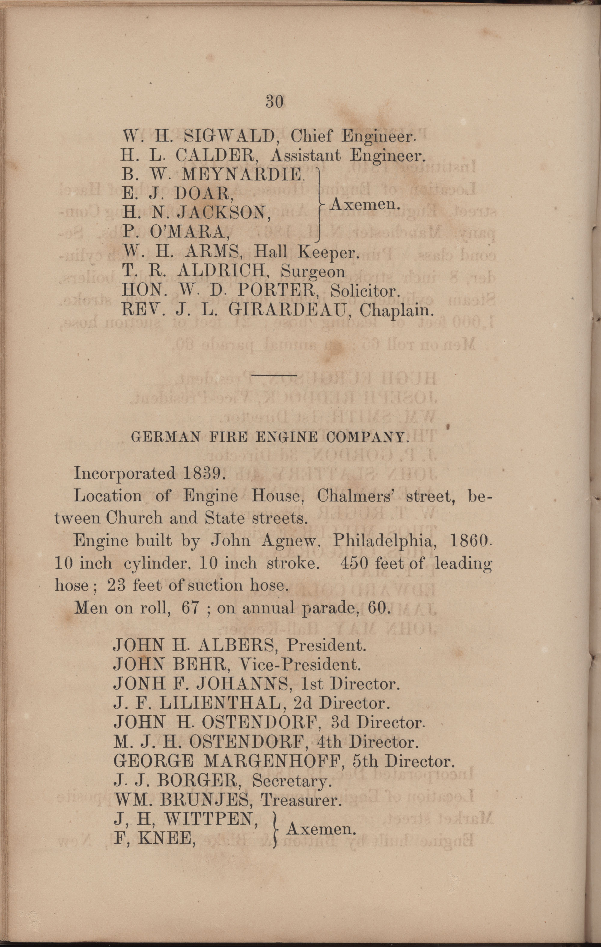Annual Report of the Chief of the Fire Department of the City of Charleston, page 208