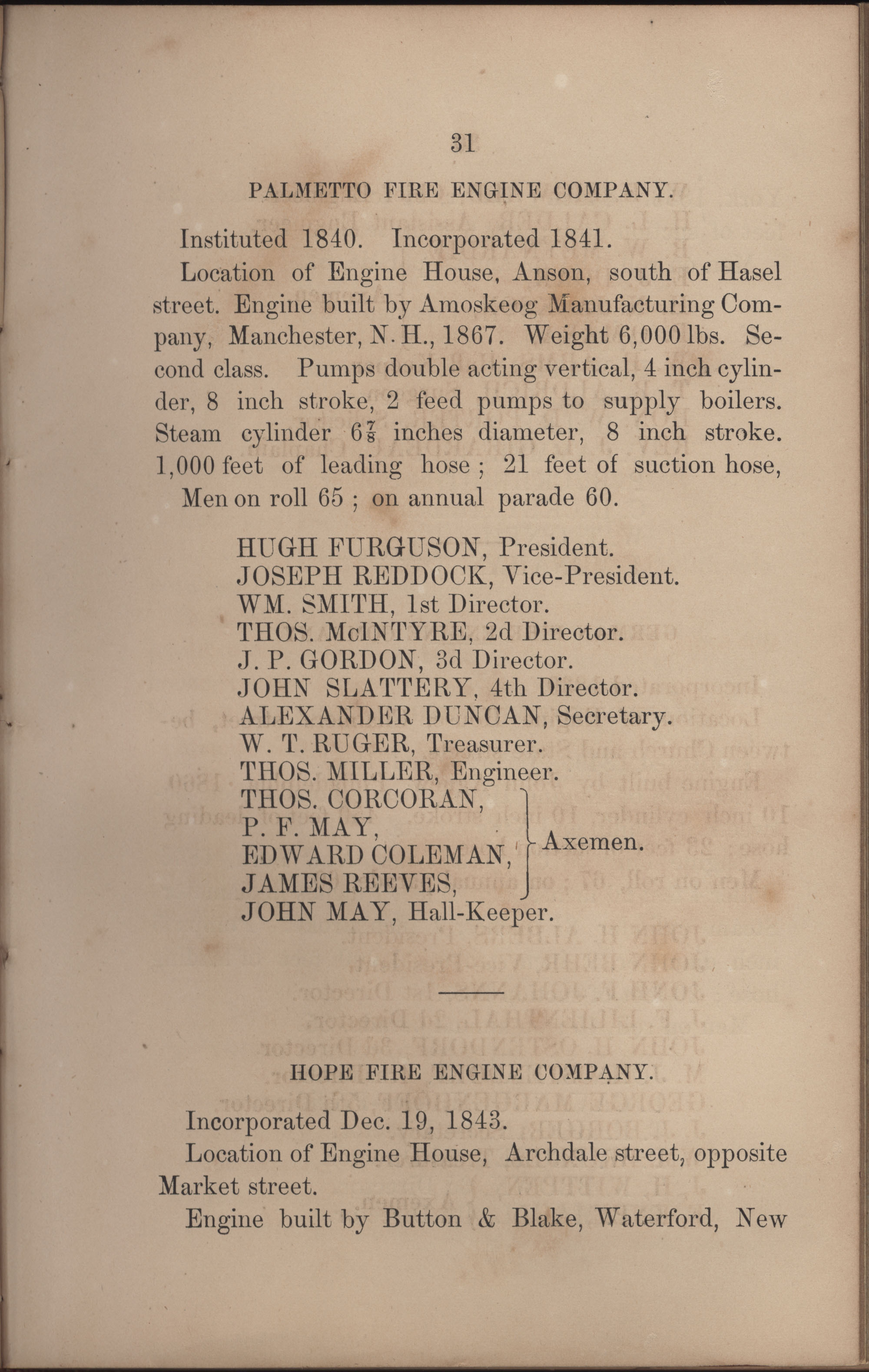 Annual Report of the Chief of the Fire Department of the City of Charleston, page 209