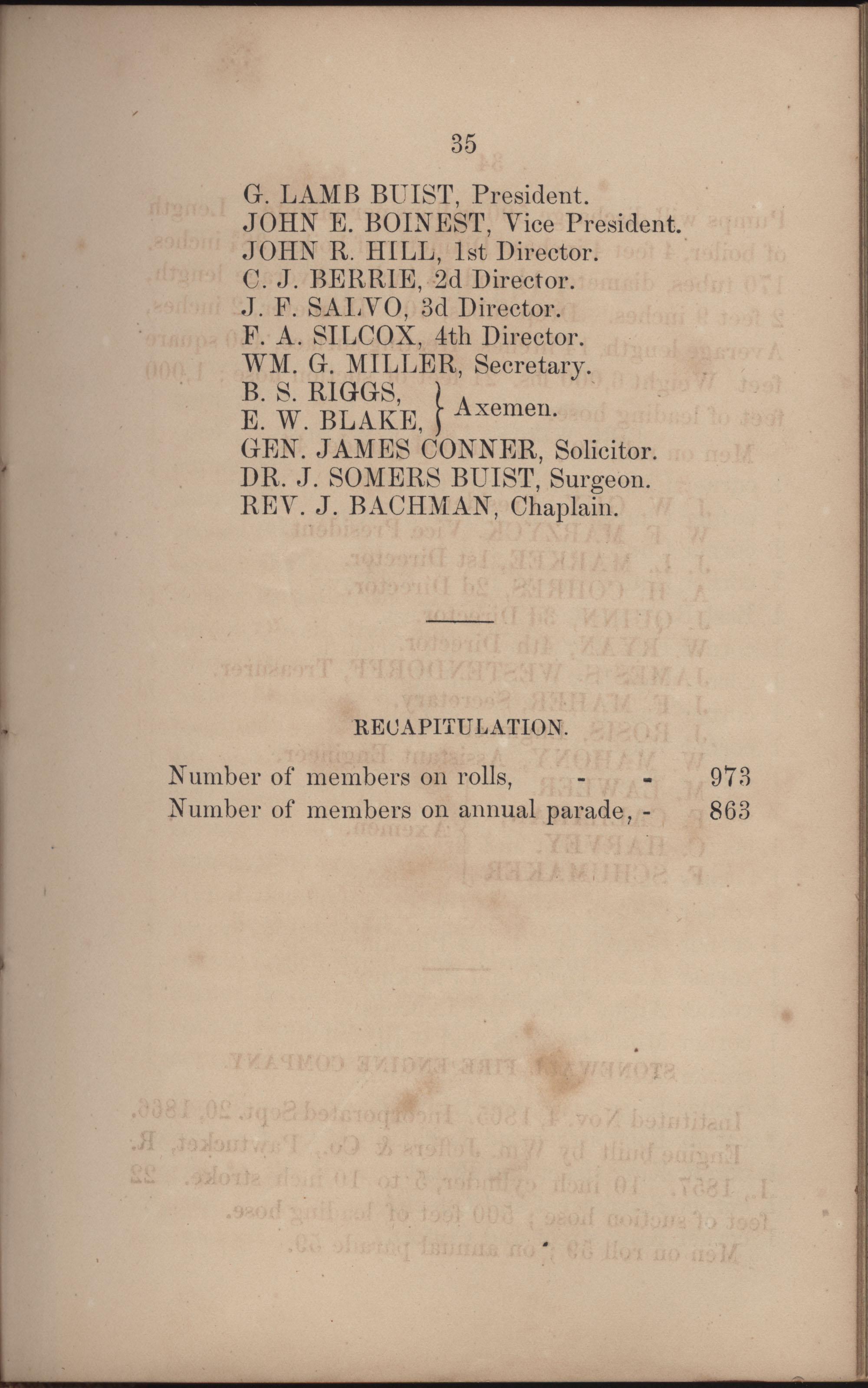 Annual Report of the Chief of the Fire Department of the City of Charleston, page 213