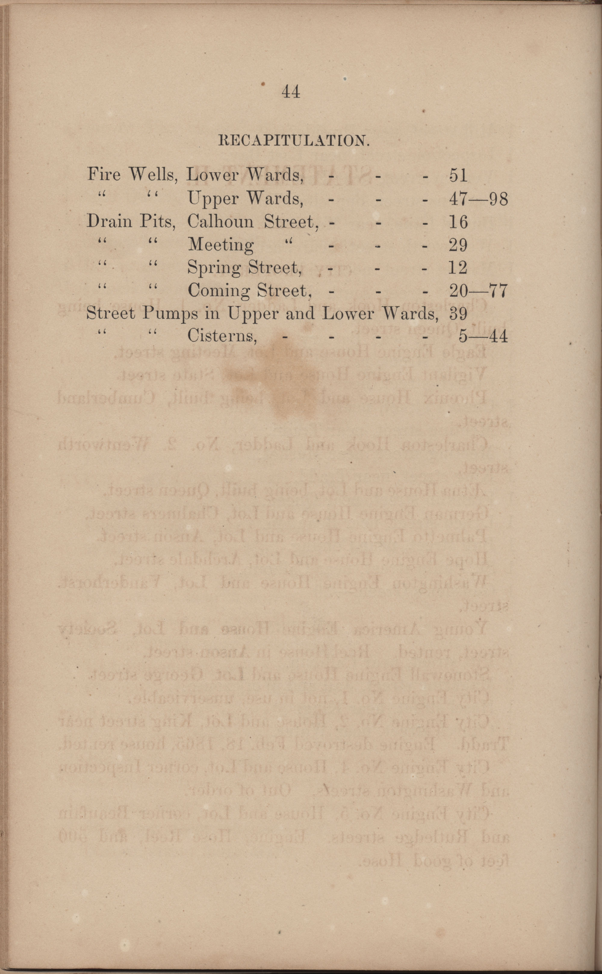 Annual Report of the Chief of the Fire Department of the City of Charleston, page 222