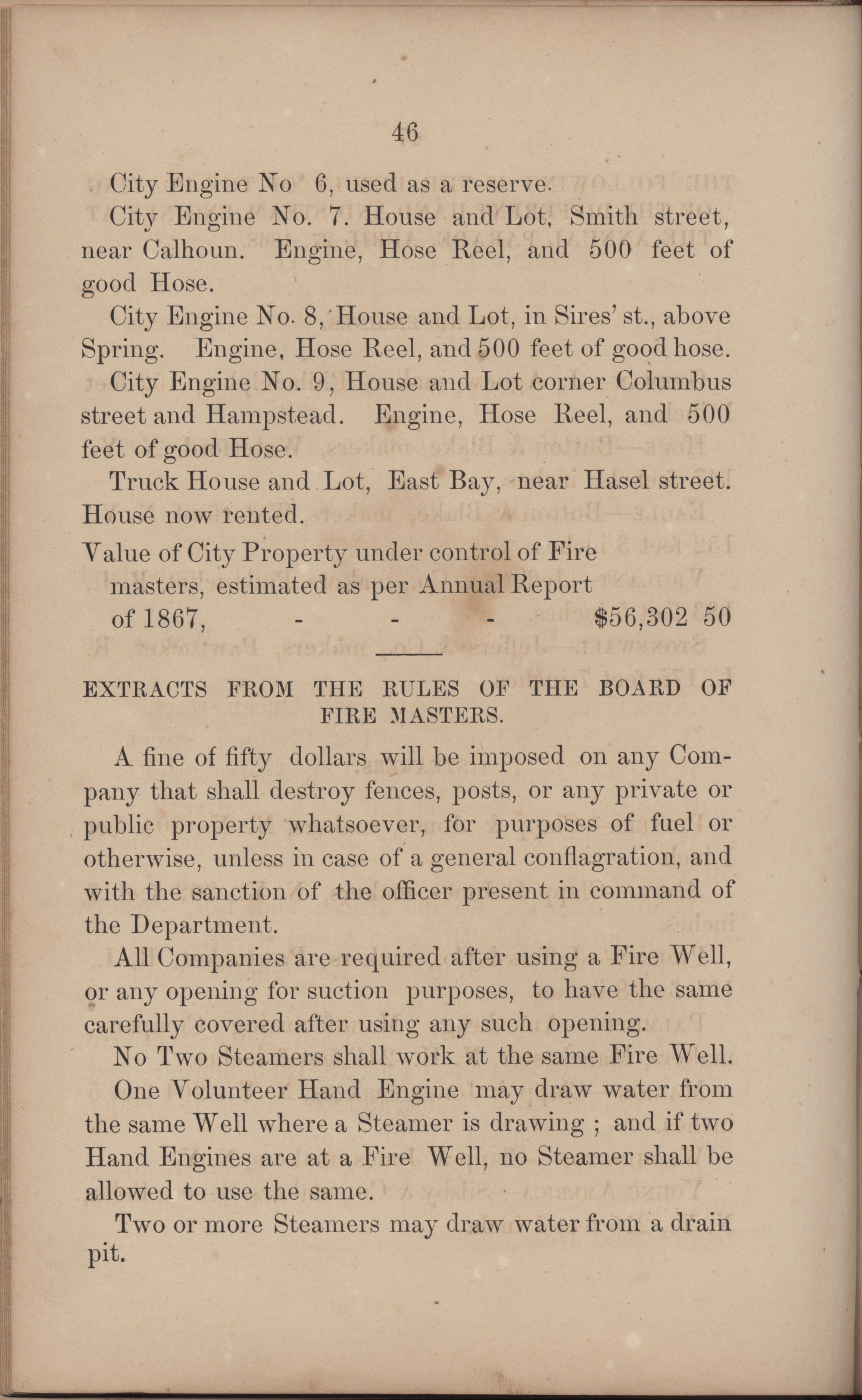 Annual Report of the Chief of the Fire Department of the City of Charleston, page 224