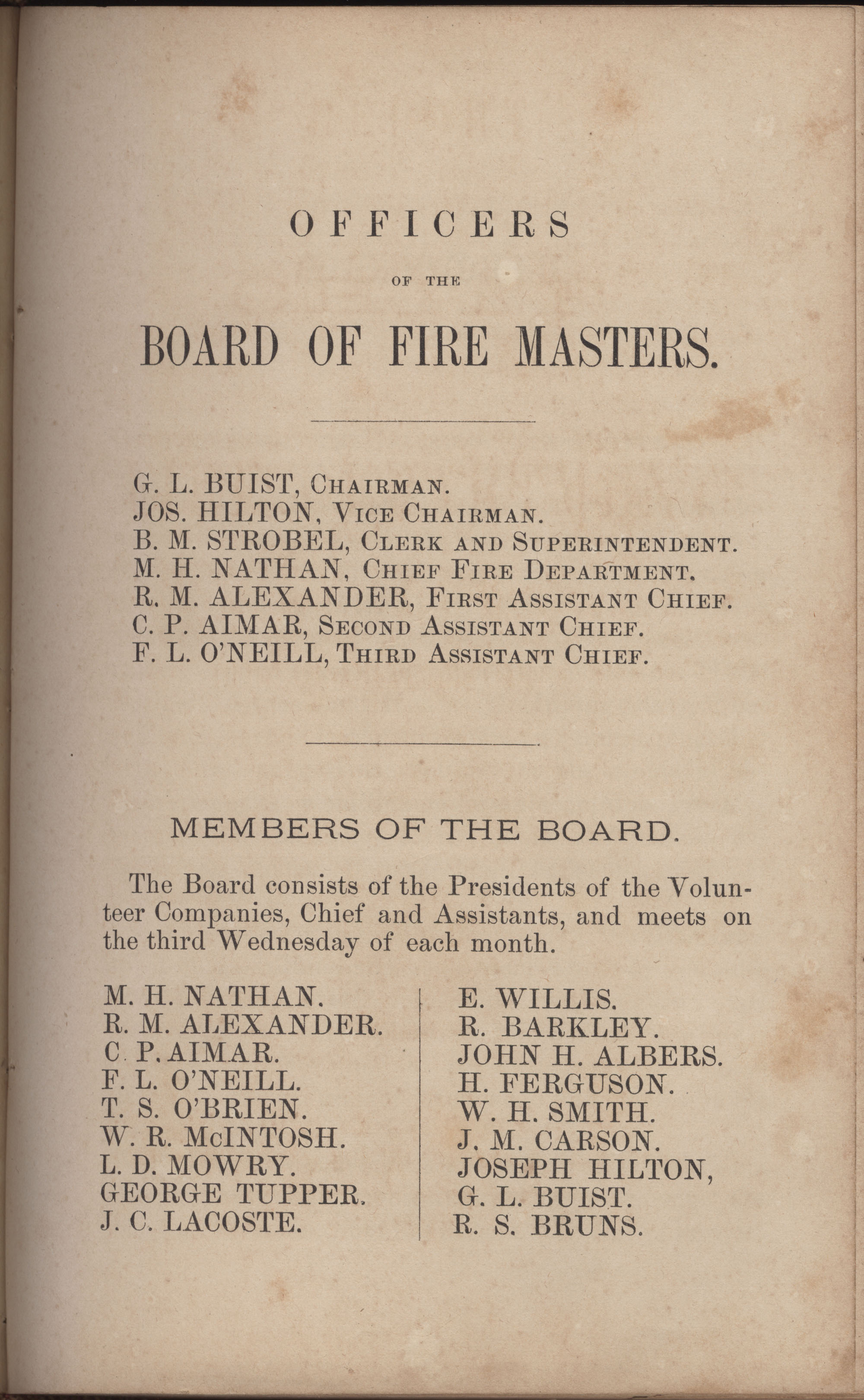 Annual Report of the Chief of the Fire Department of the City of Charleston, page 231