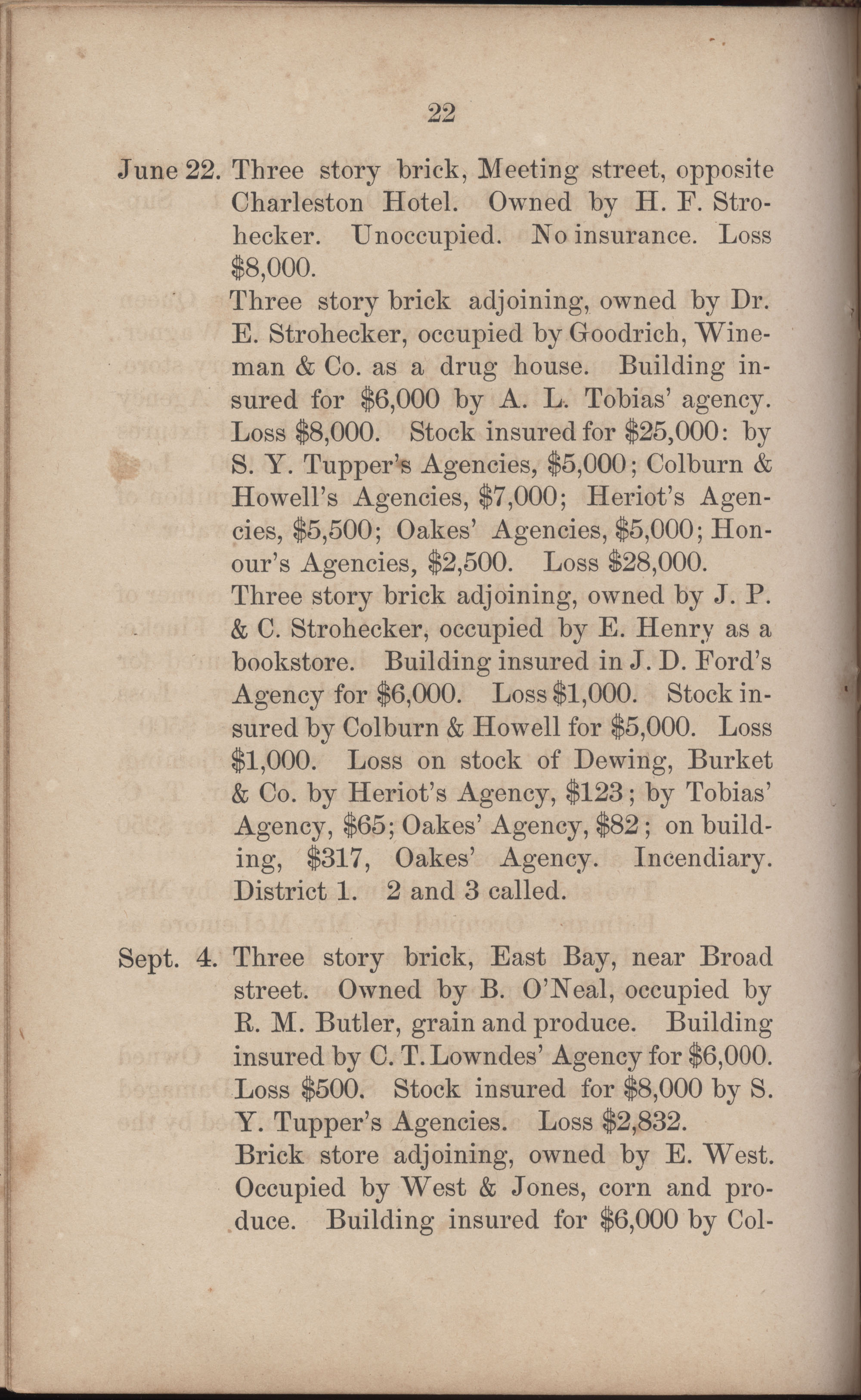 Annual Report of the Chief of the Fire Department of the City of Charleston, page 249