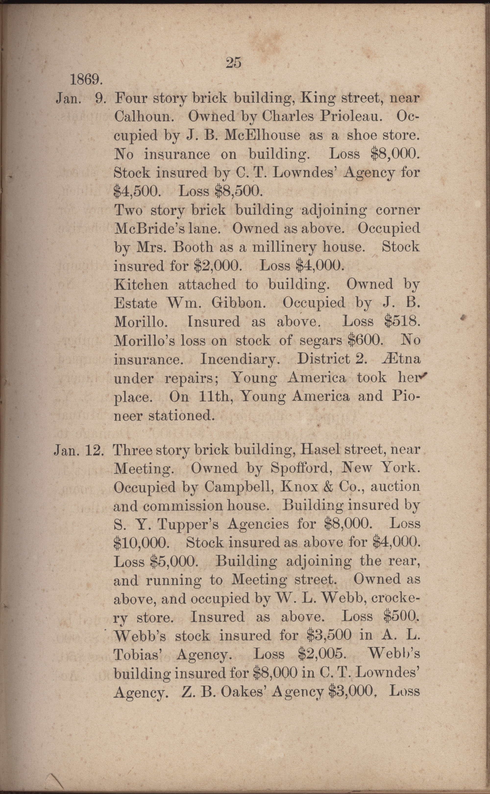 Annual Report of the Chief of the Fire Department of the City of Charleston, page 252