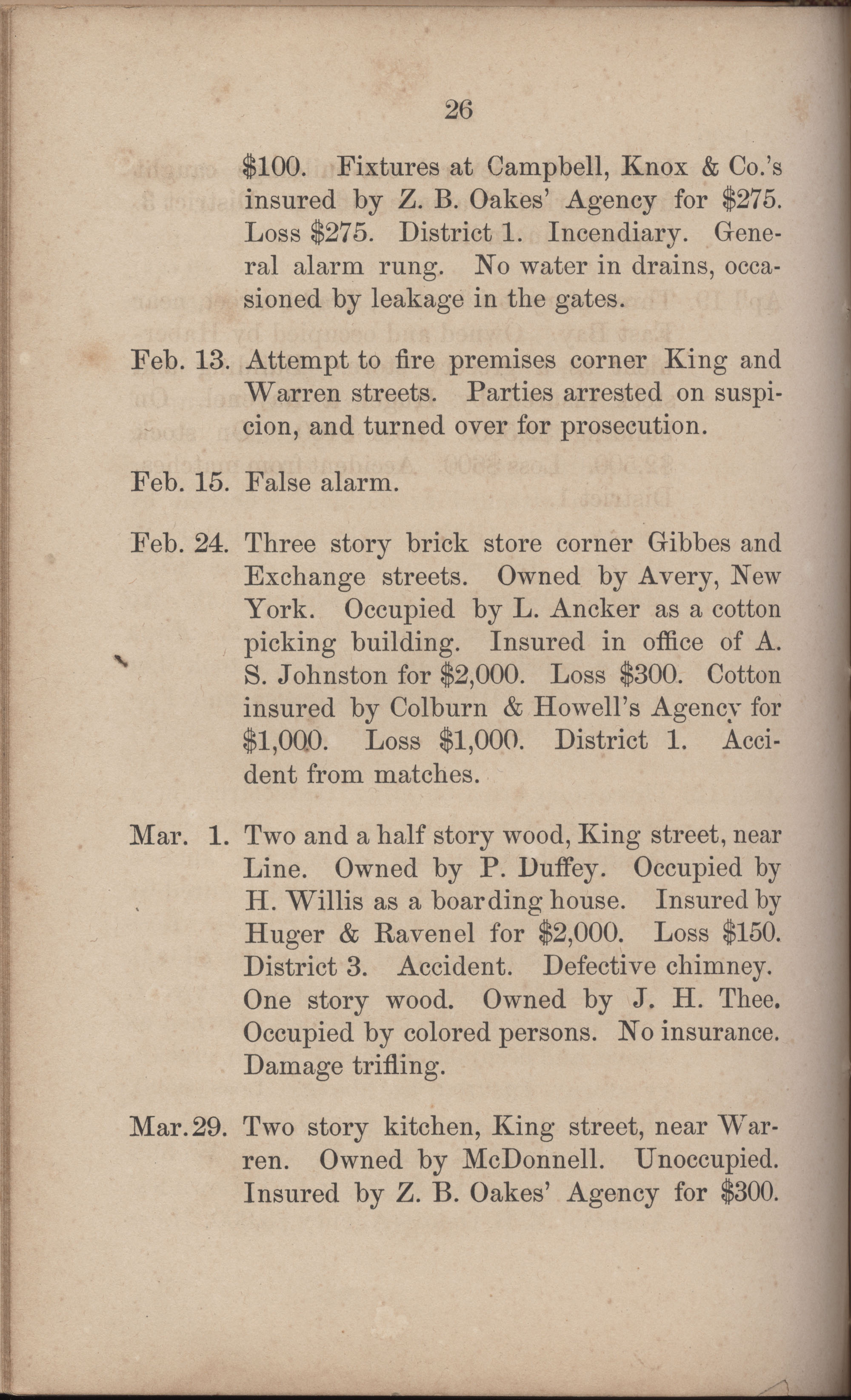 Annual Report of the Chief of the Fire Department of the City of Charleston, page 253