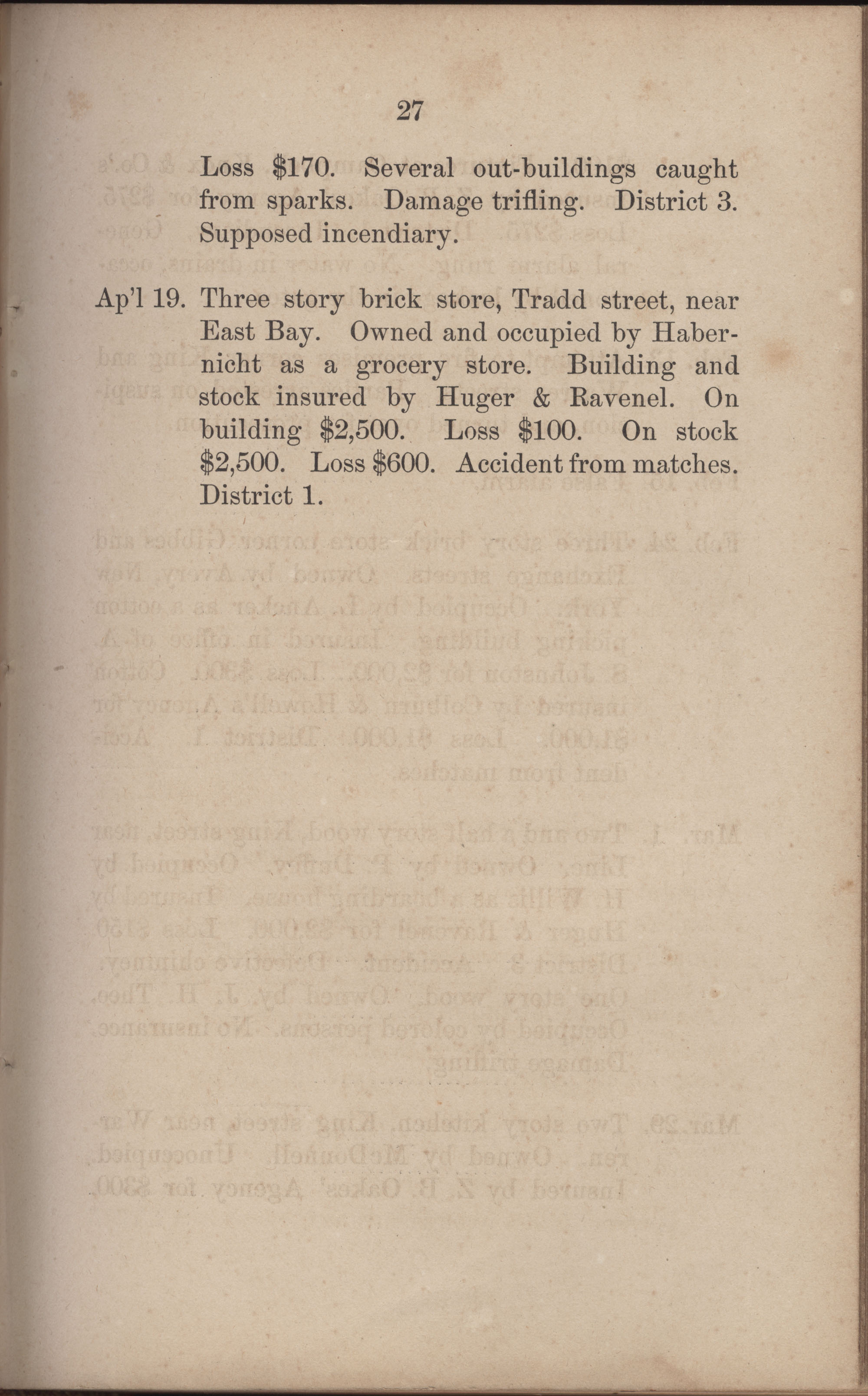 Annual Report of the Chief of the Fire Department of the City of Charleston, page 254