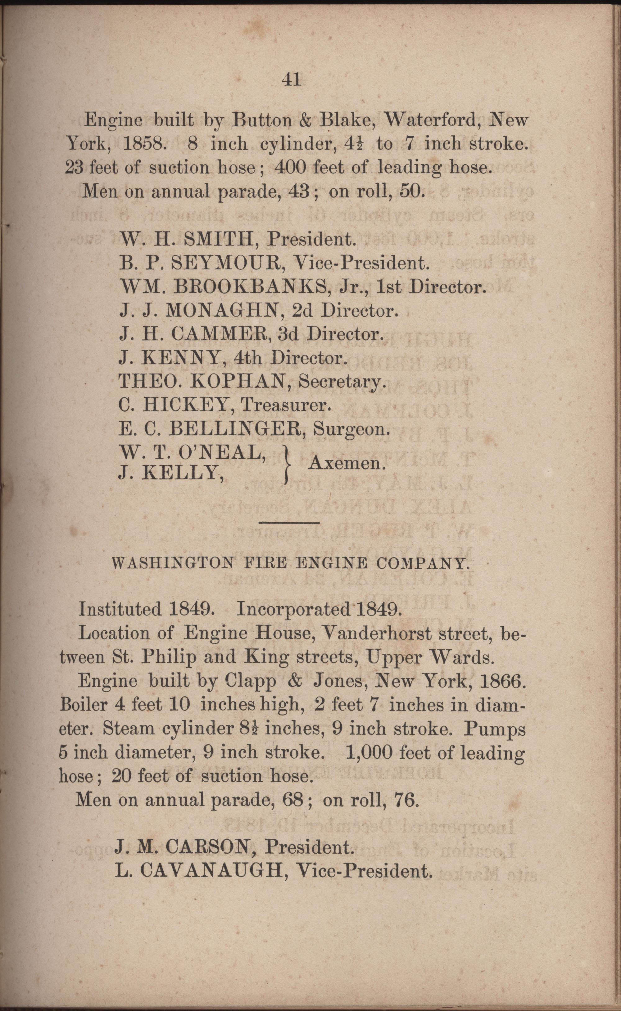 Annual Report of the Chief of the Fire Department of the City of Charleston, page 268