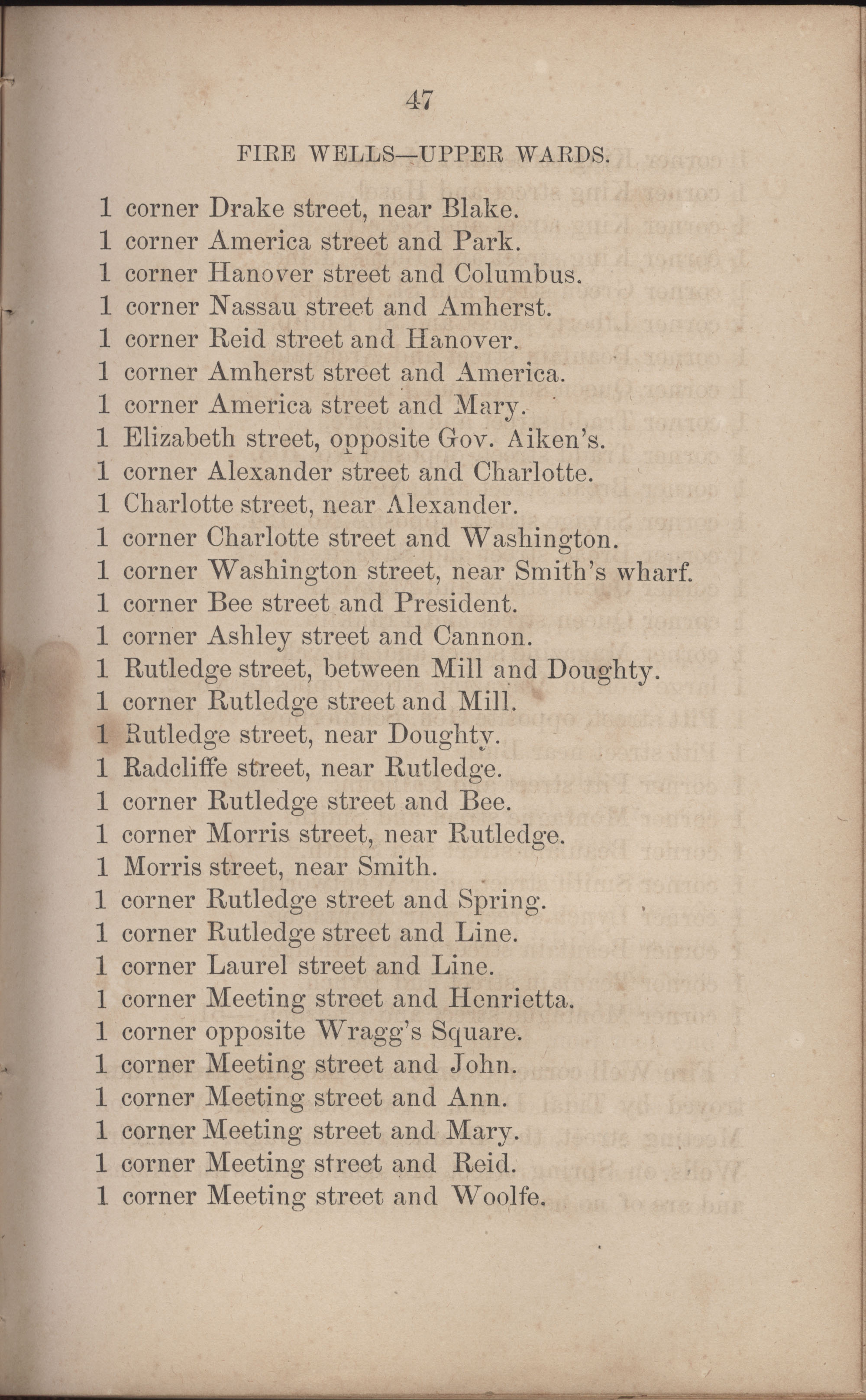 Annual Report of the Chief of the Fire Department of the City of Charleston, page 274