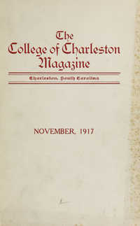 College of Charleston Magazine, 1917-1918