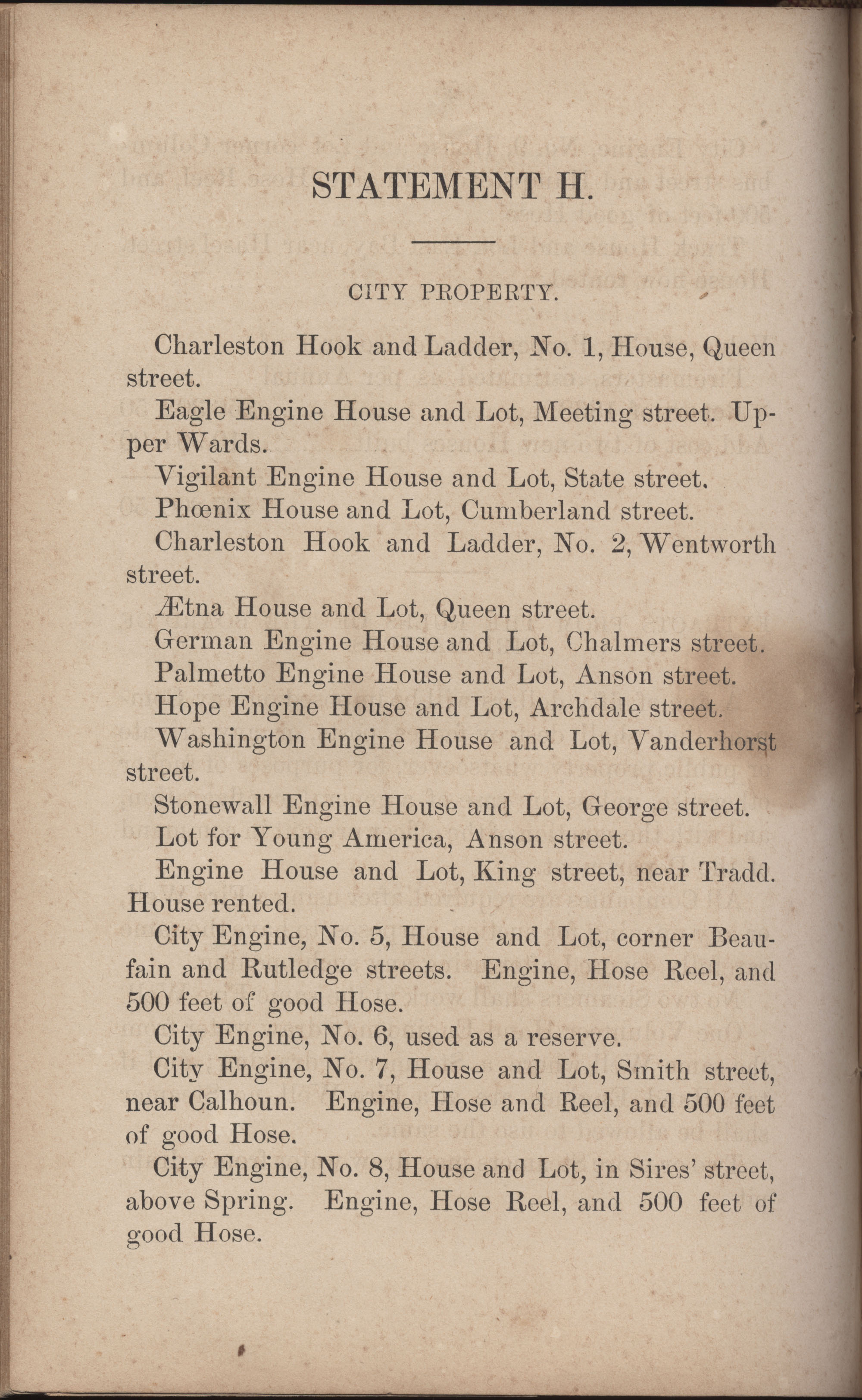 Annual Report of the Chief of the Fire Department of the City of Charleston, page 281
