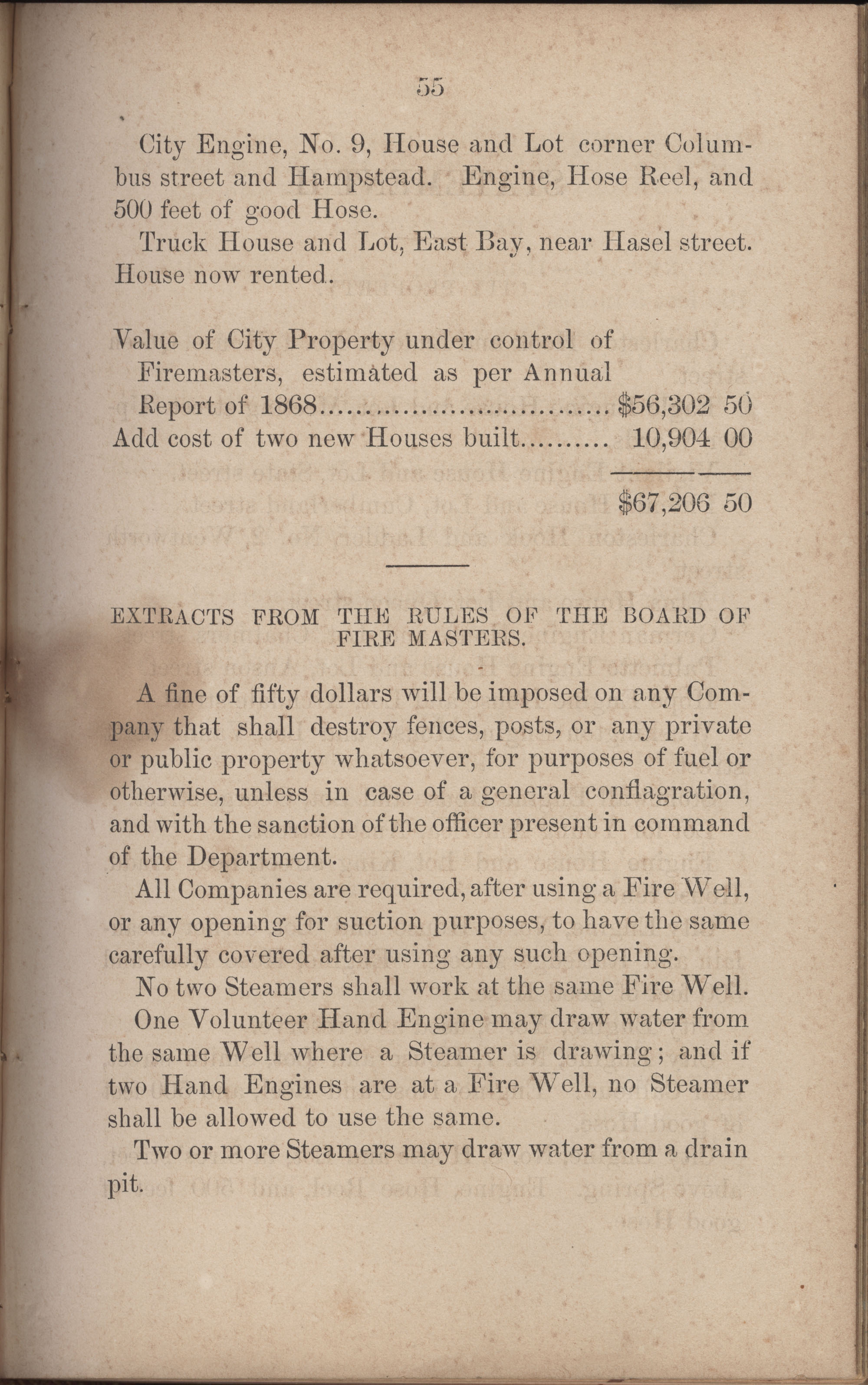Annual Report of the Chief of the Fire Department of the City of Charleston, page 282