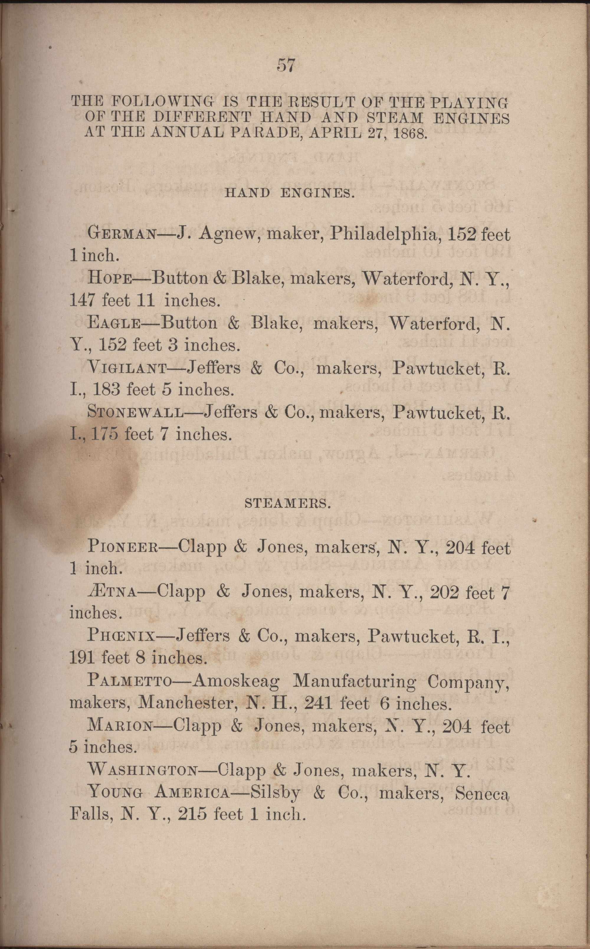 Annual Report of the Chief of the Fire Department of the City of Charleston, page 284