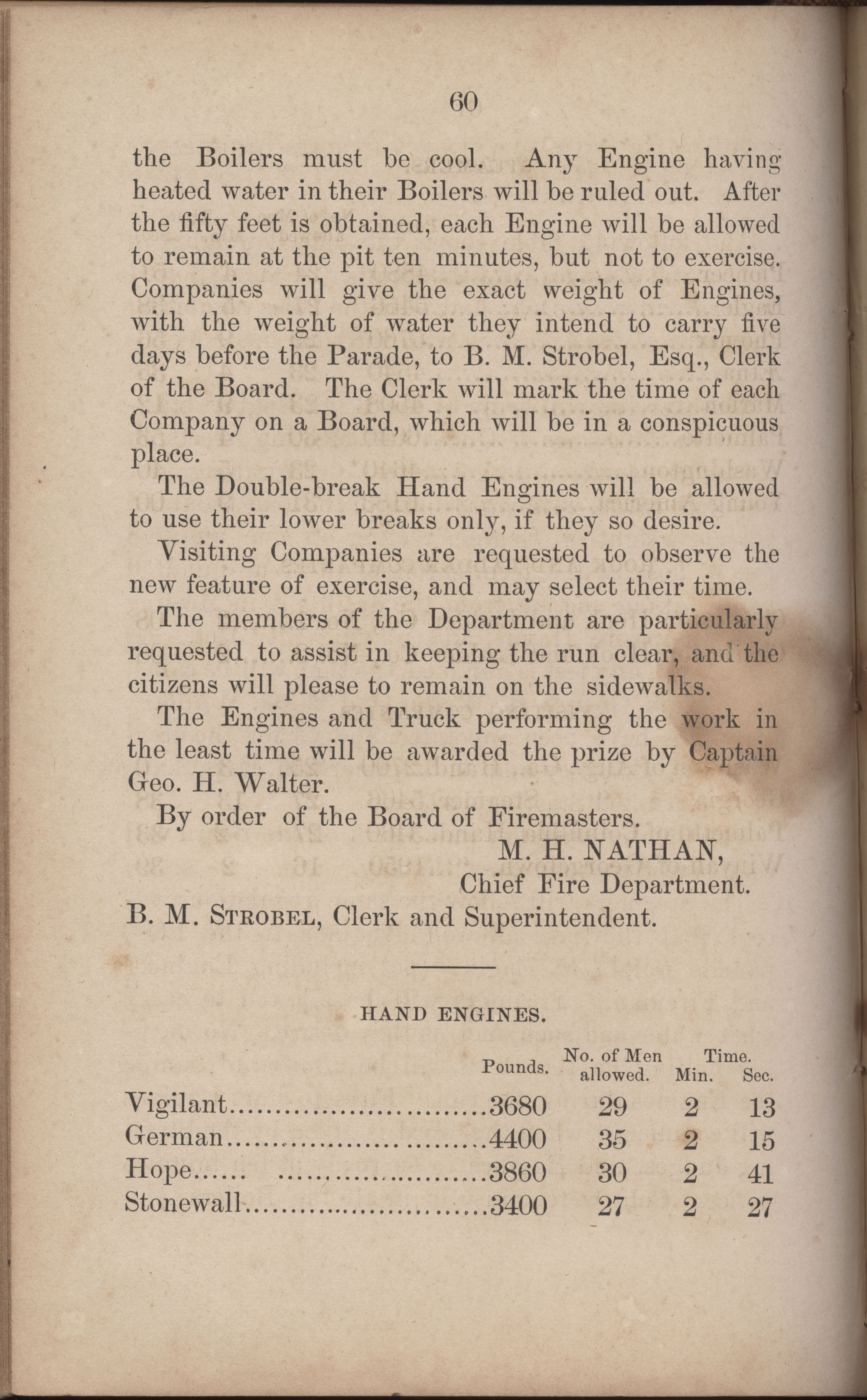 Annual Report of the Chief of the Fire Department of the City of Charleston, page 287