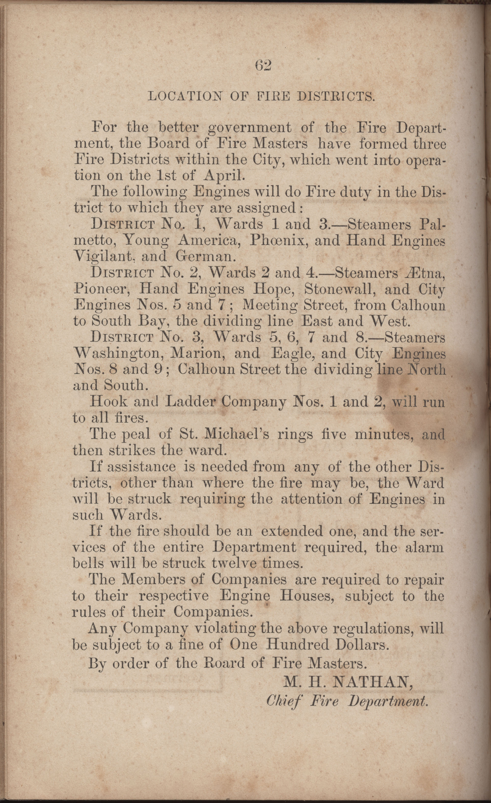Annual Report of the Chief of the Fire Department of the City of Charleston, page 289