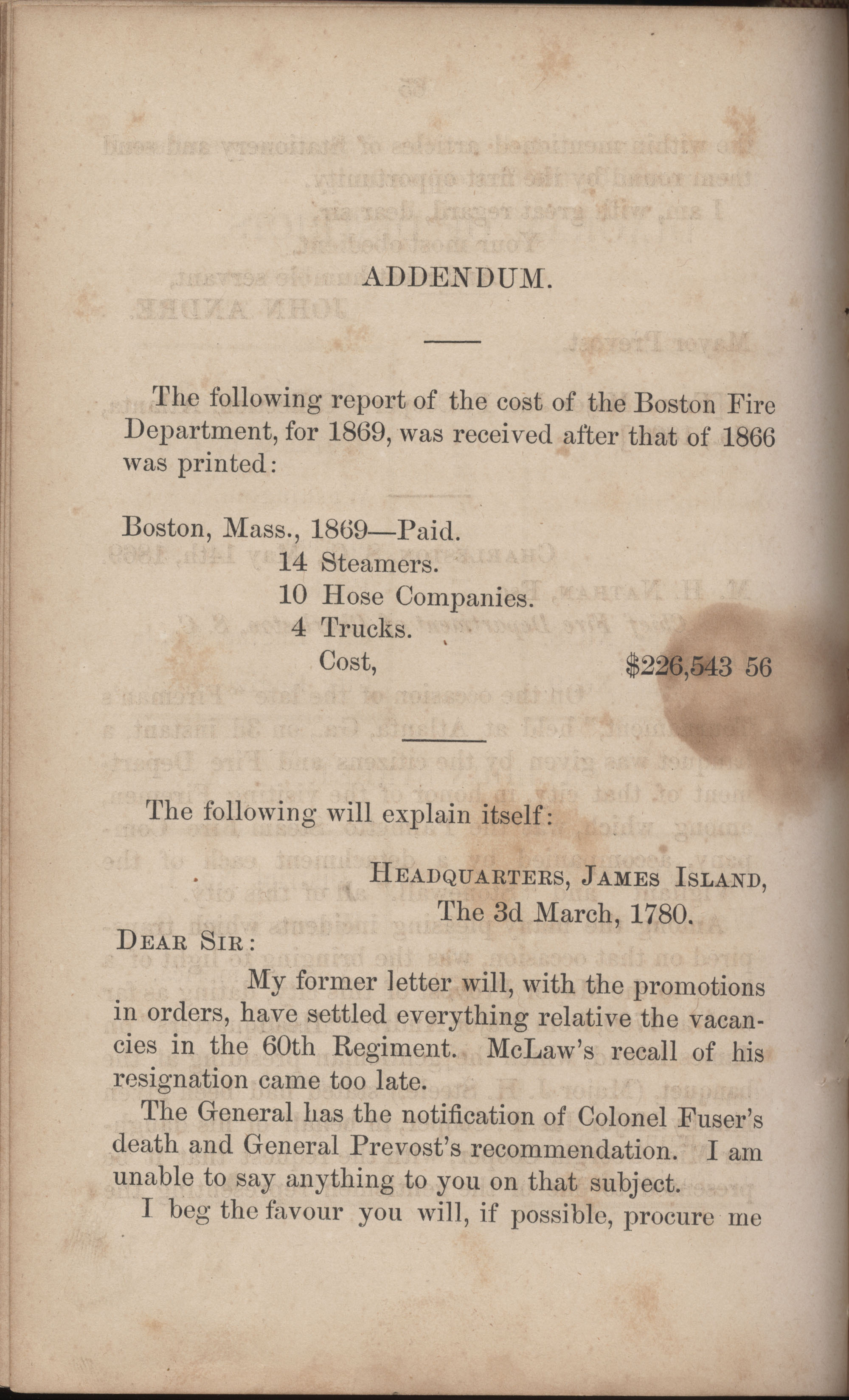 Annual Report of the Chief of the Fire Department of the City of Charleston, page 291