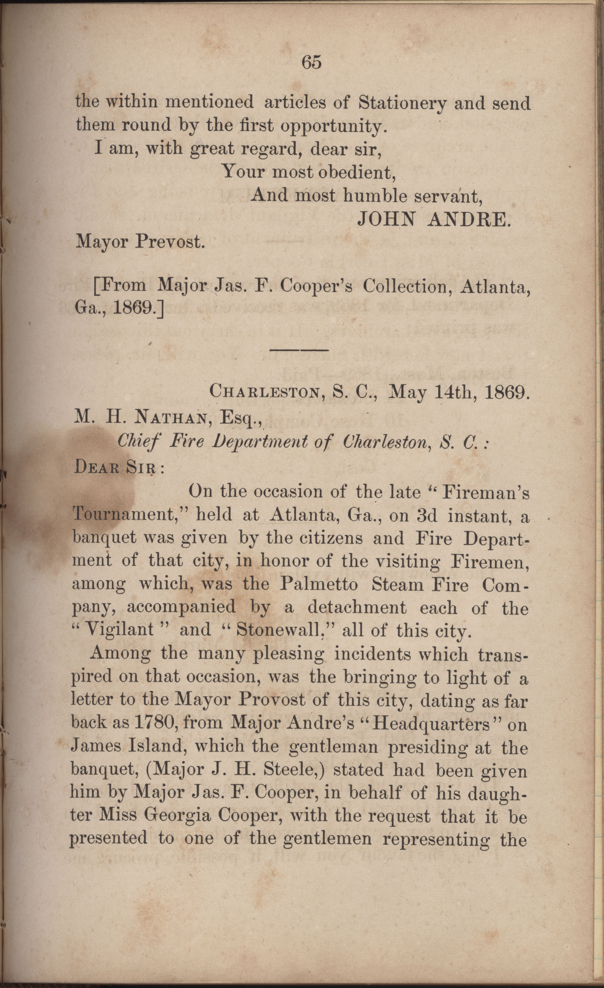 Annual Report of the Chief of the Fire Department of the City of Charleston, page 292