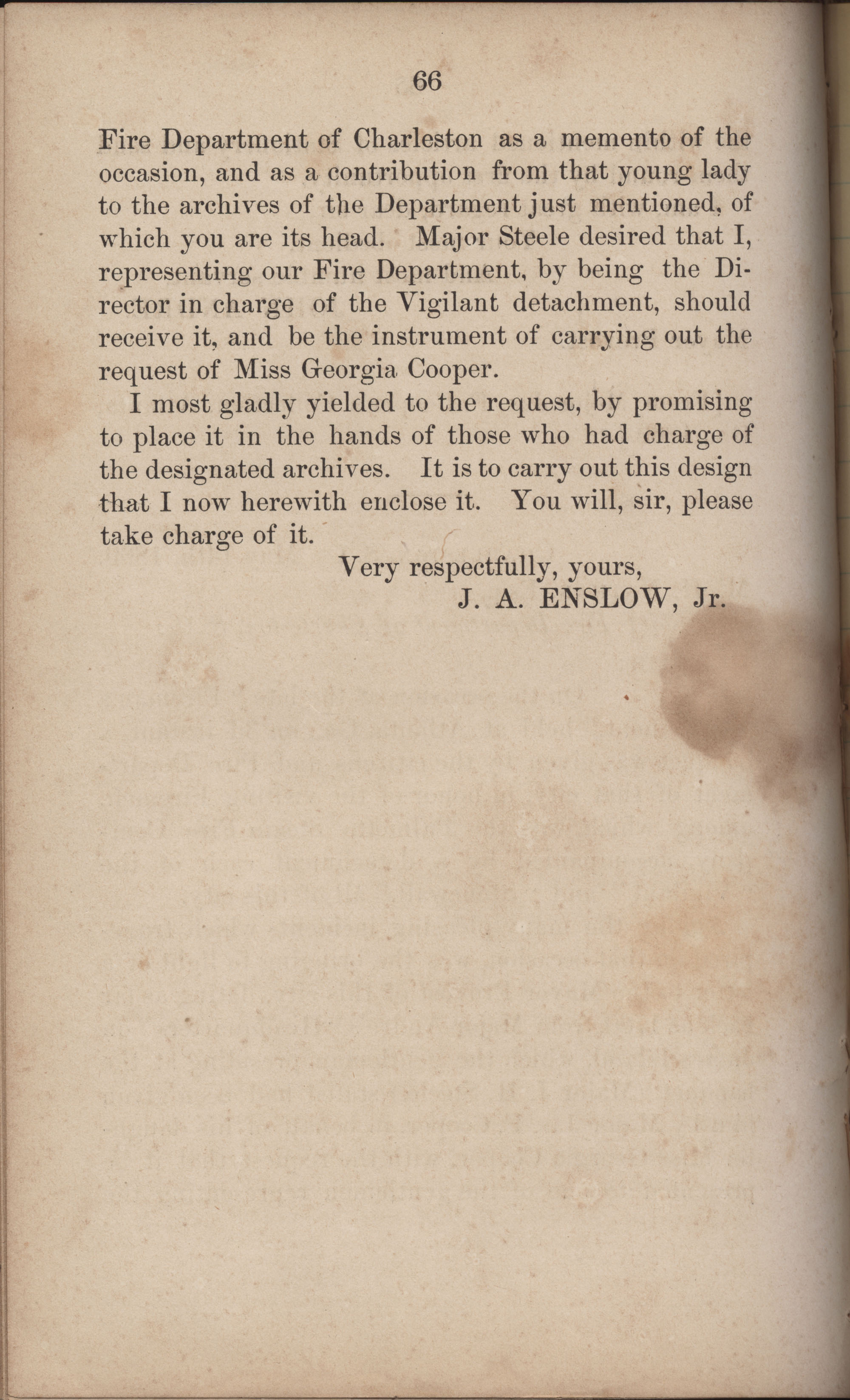 Annual Report of the Chief of the Fire Department of the City of Charleston, page 293