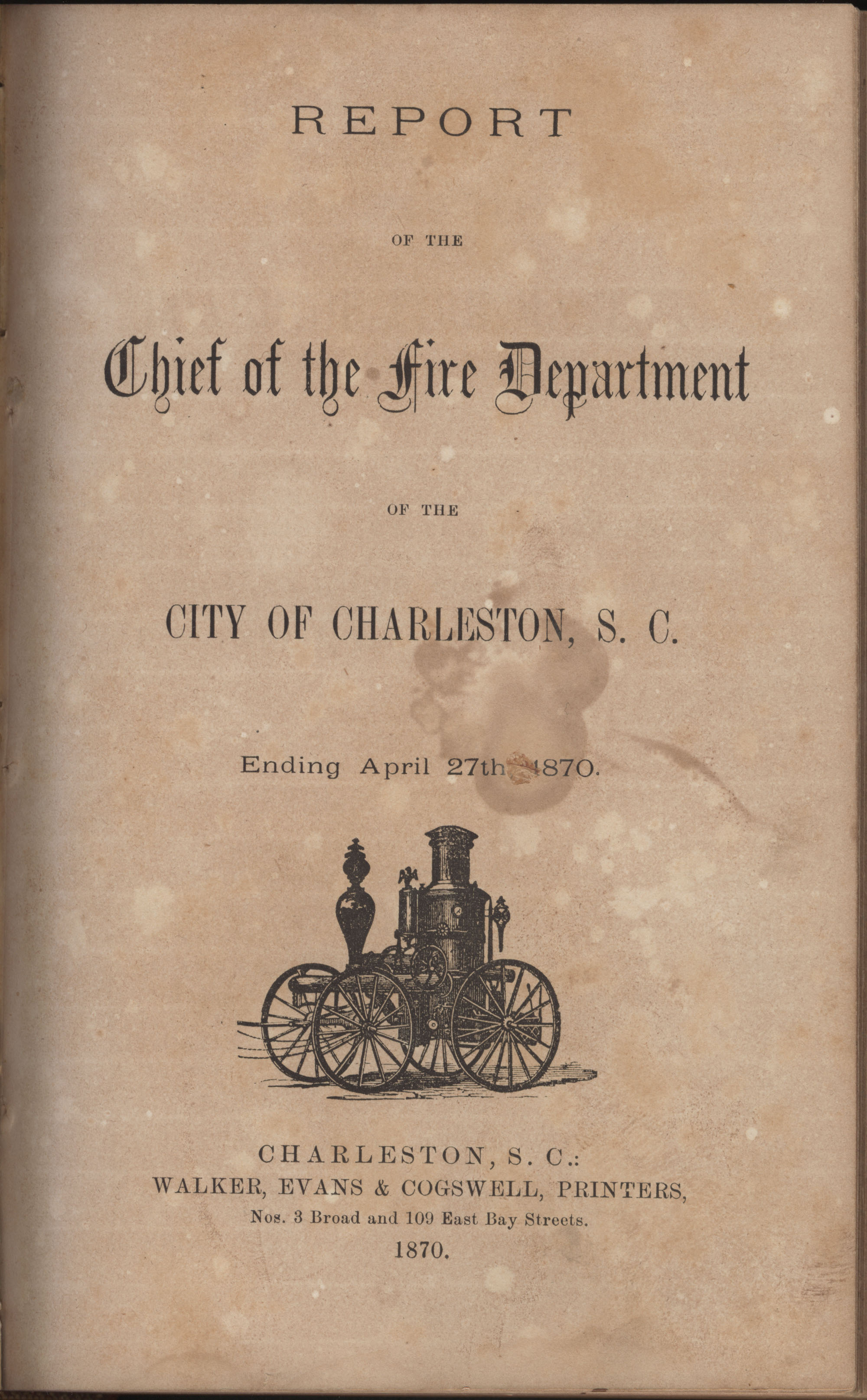 Annual Report of the Chief of the Fire Department of the City of Charleston, page 294