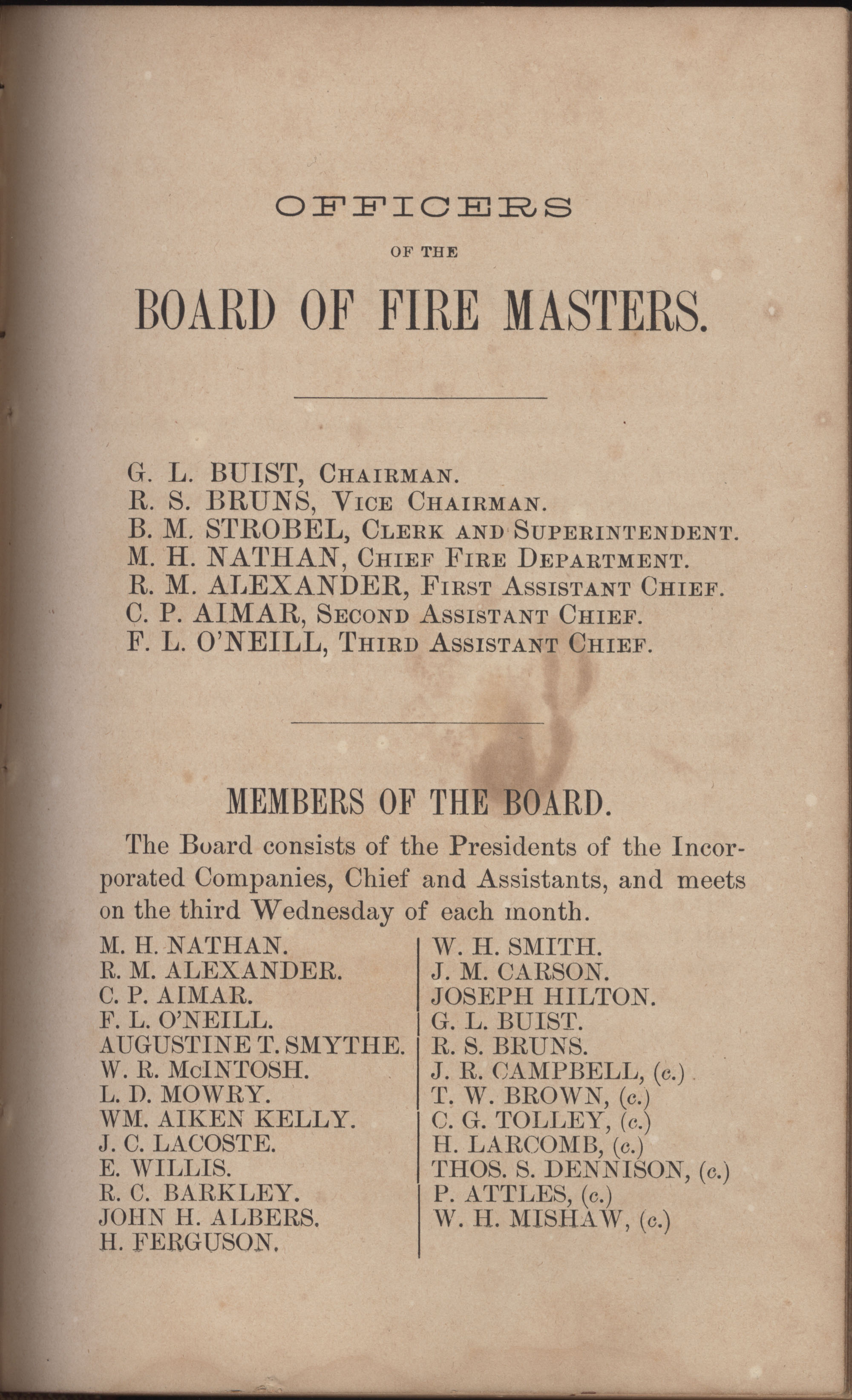 Annual Report of the Chief of the Fire Department of the City of Charleston, page 295