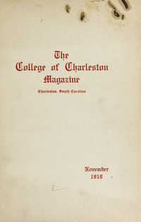 College of Charleston Magazine, 1919-1920