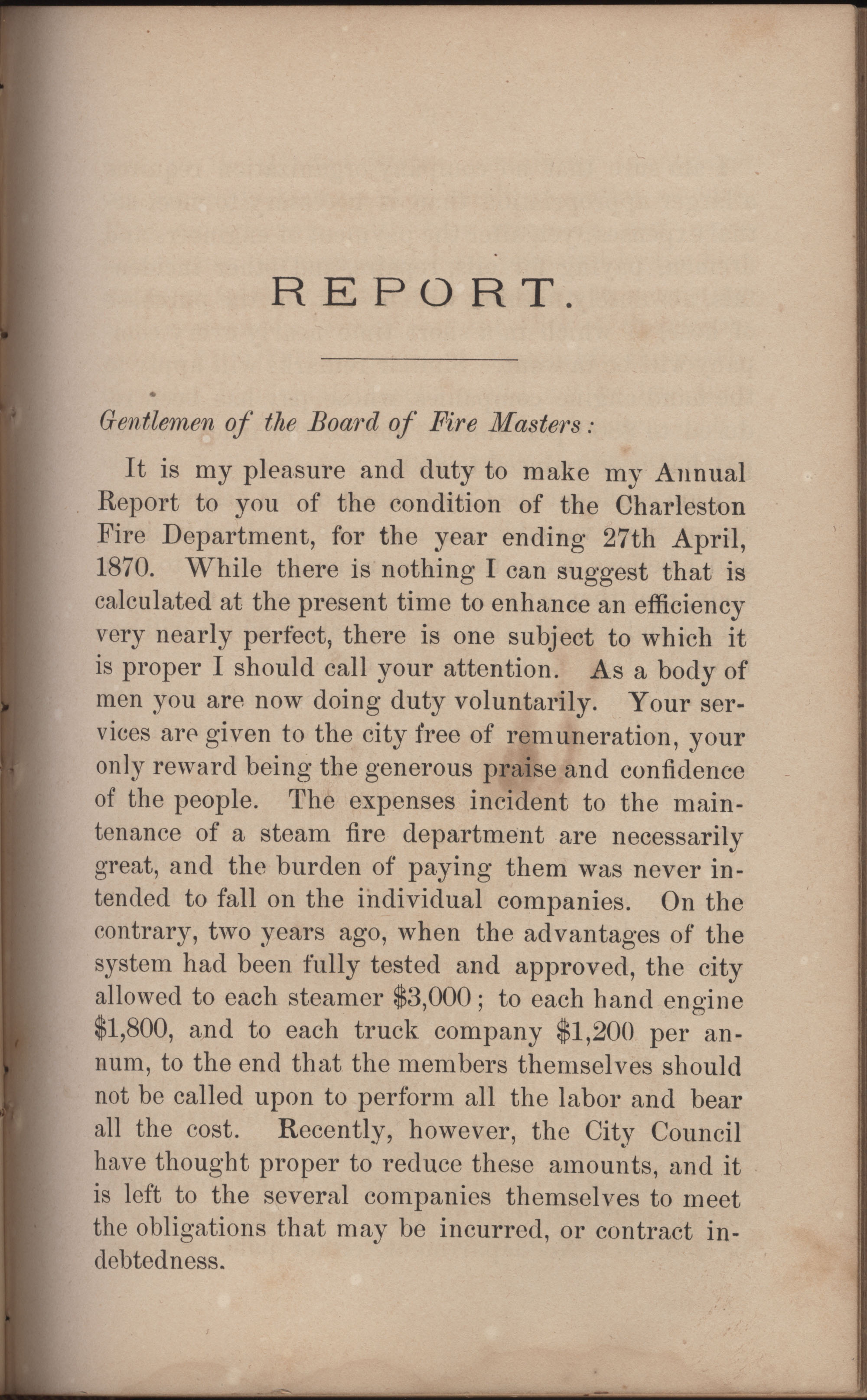 Annual Report of the Chief of the Fire Department of the City of Charleston, page 296
