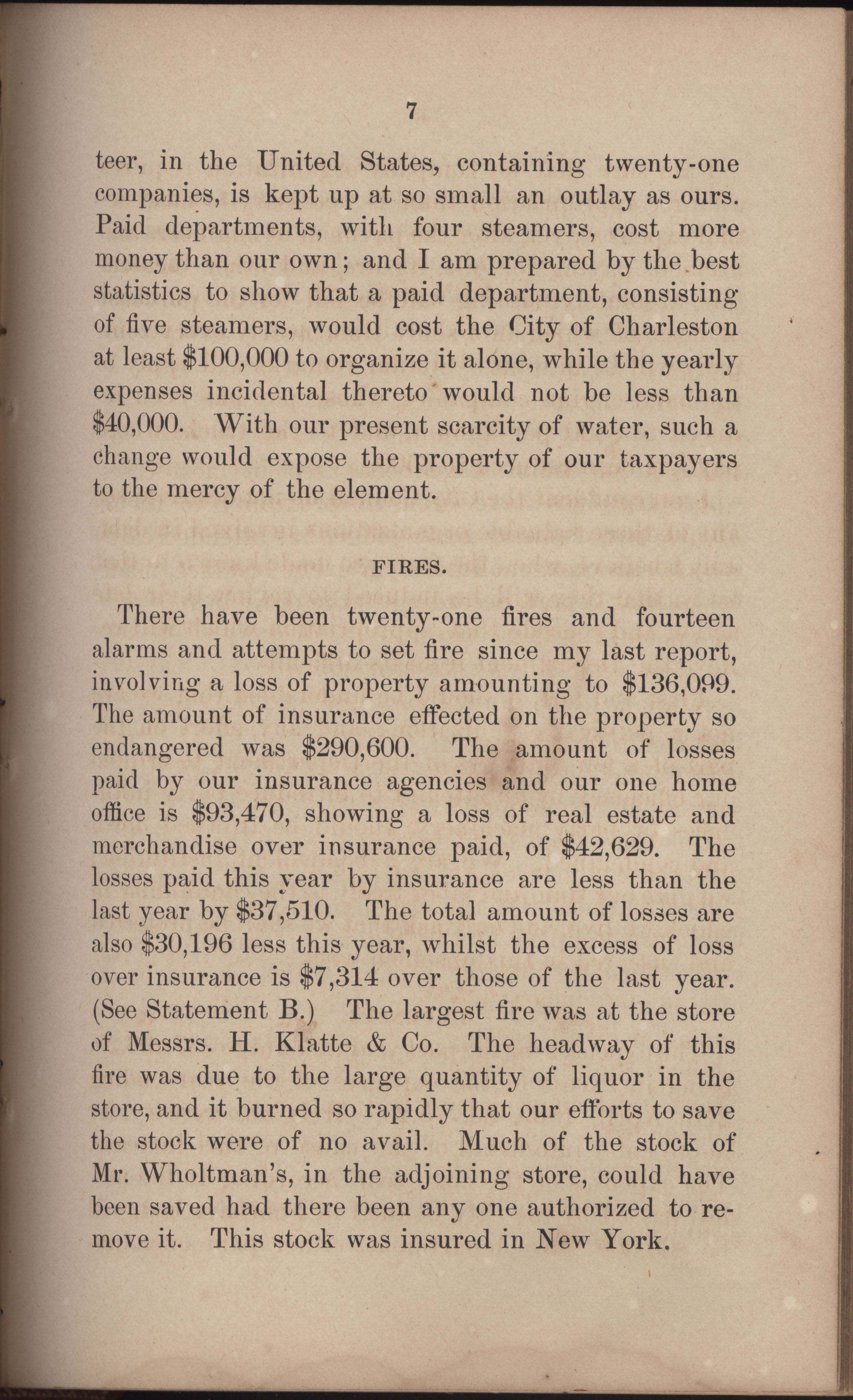 Annual Report of the Chief of the Fire Department of the City of Charleston, page 298