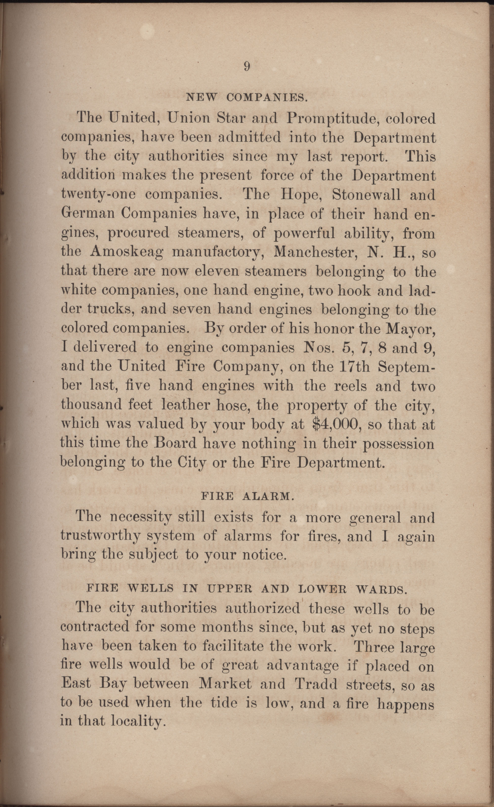 Annual Report of the Chief of the Fire Department of the City of Charleston, page 300