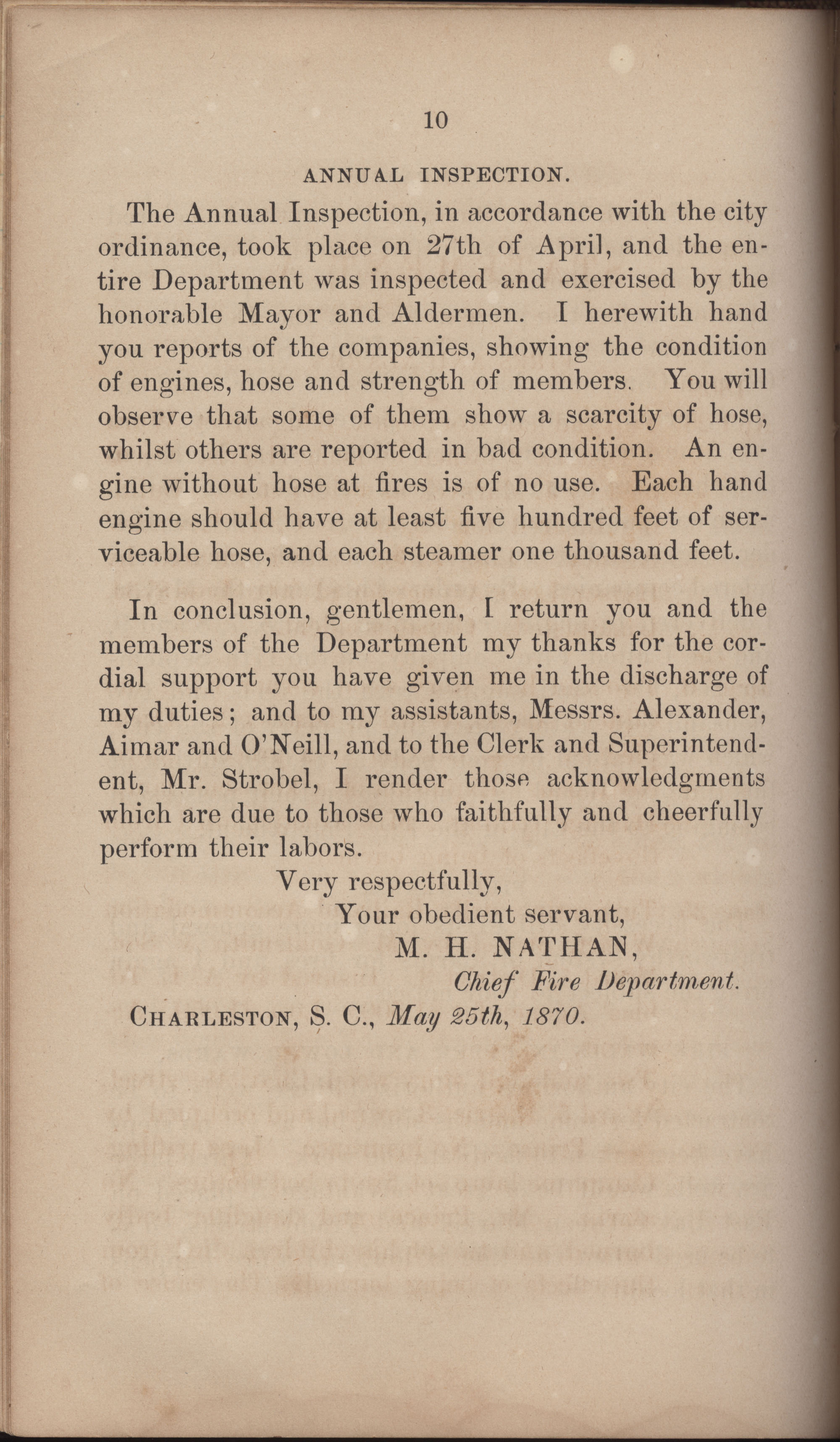Annual Report of the Chief of the Fire Department of the City of Charleston, page 301