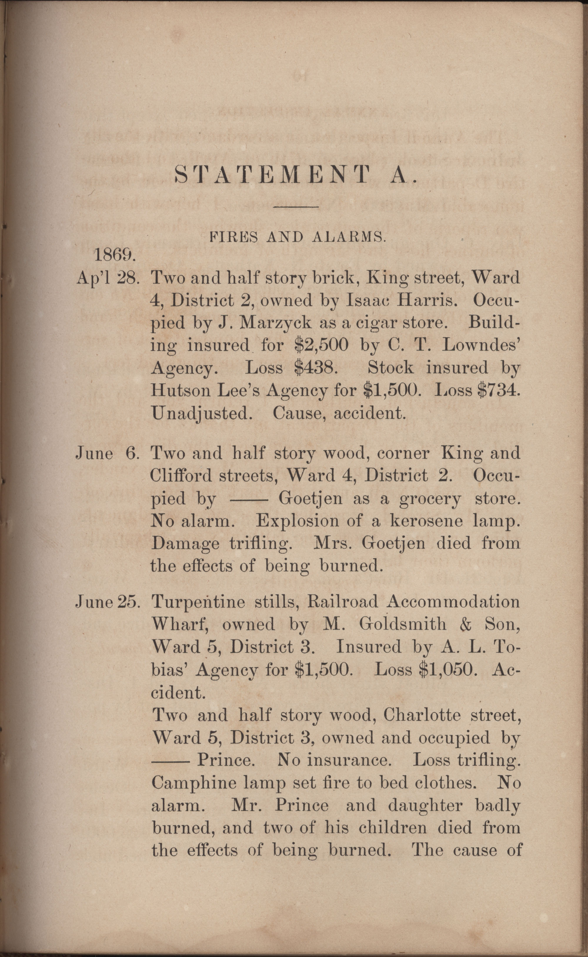 Annual Report of the Chief of the Fire Department of the City of Charleston, page 302