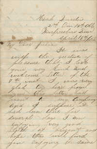 Correspondence of Union Soldier, David Humphreys