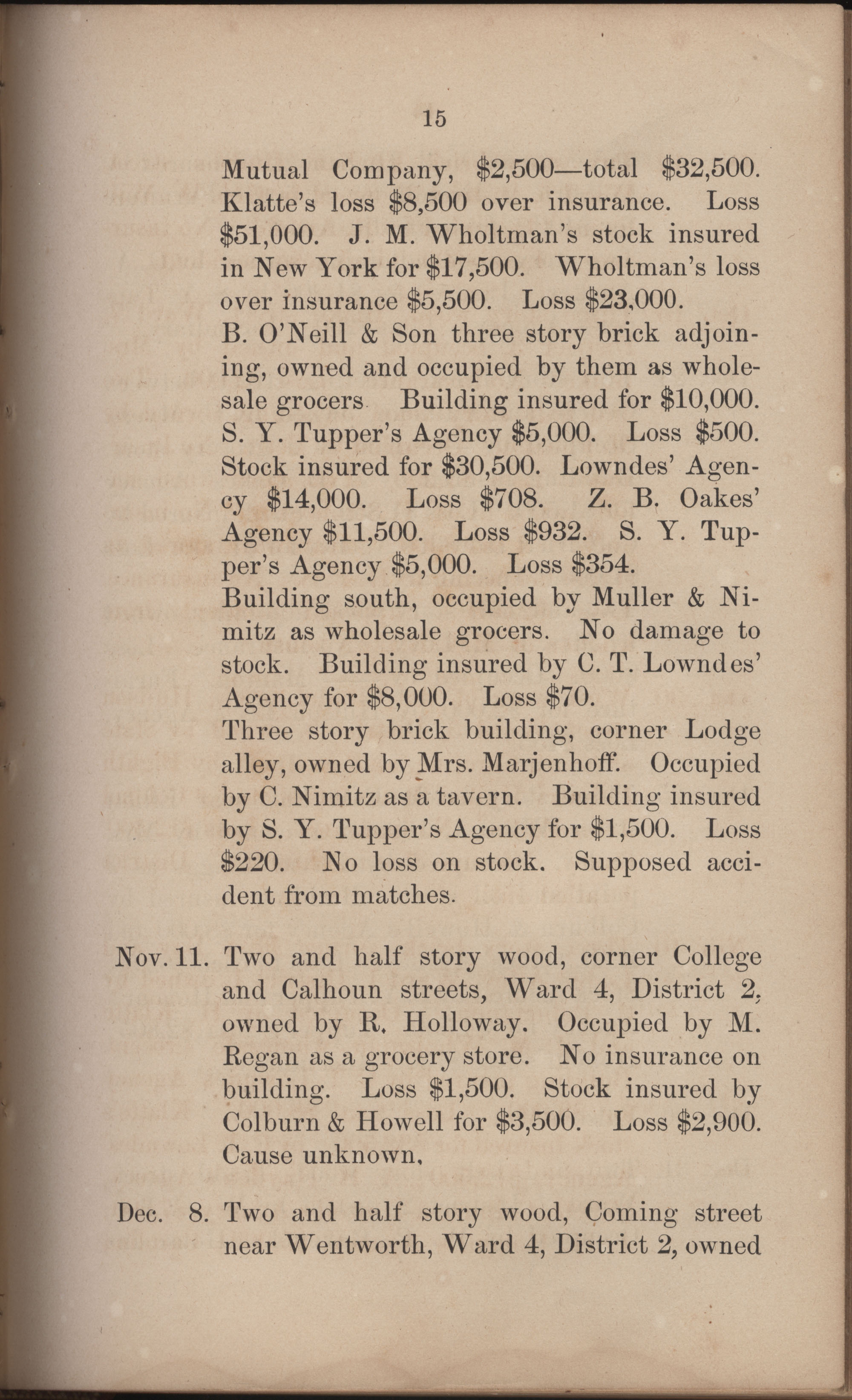 Annual Report of the Chief of the Fire Department of the City of Charleston, page 306