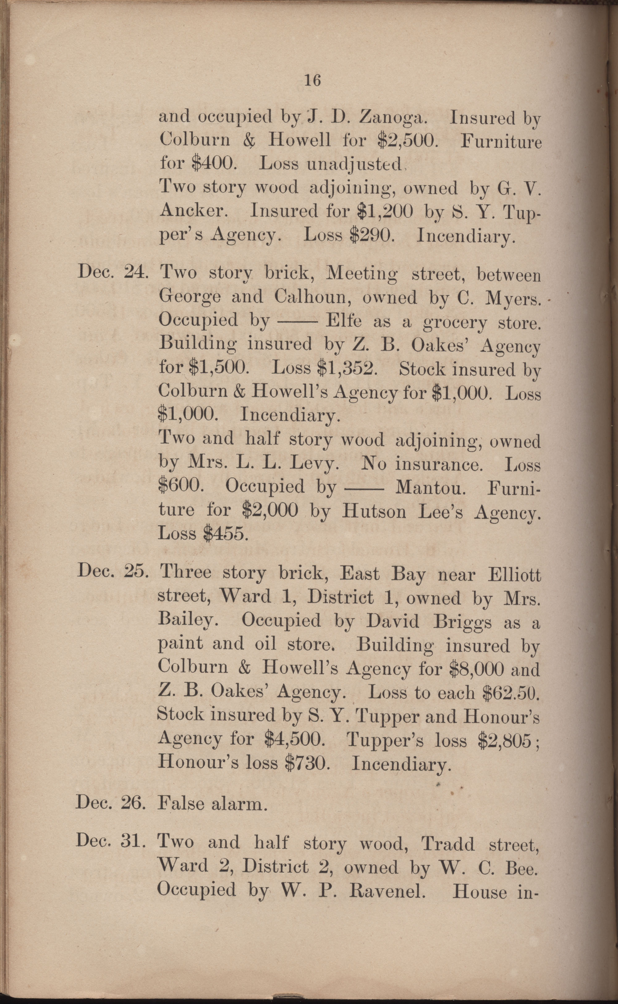 Annual Report of the Chief of the Fire Department of the City of Charleston, page 307