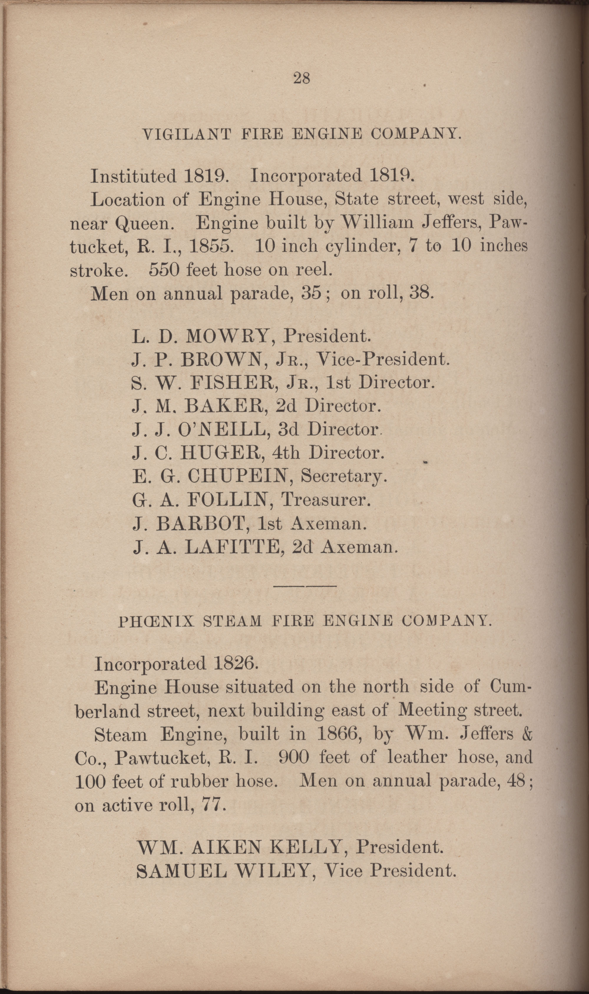 Annual Report of the Chief of the Fire Department of the City of Charleston, page 319