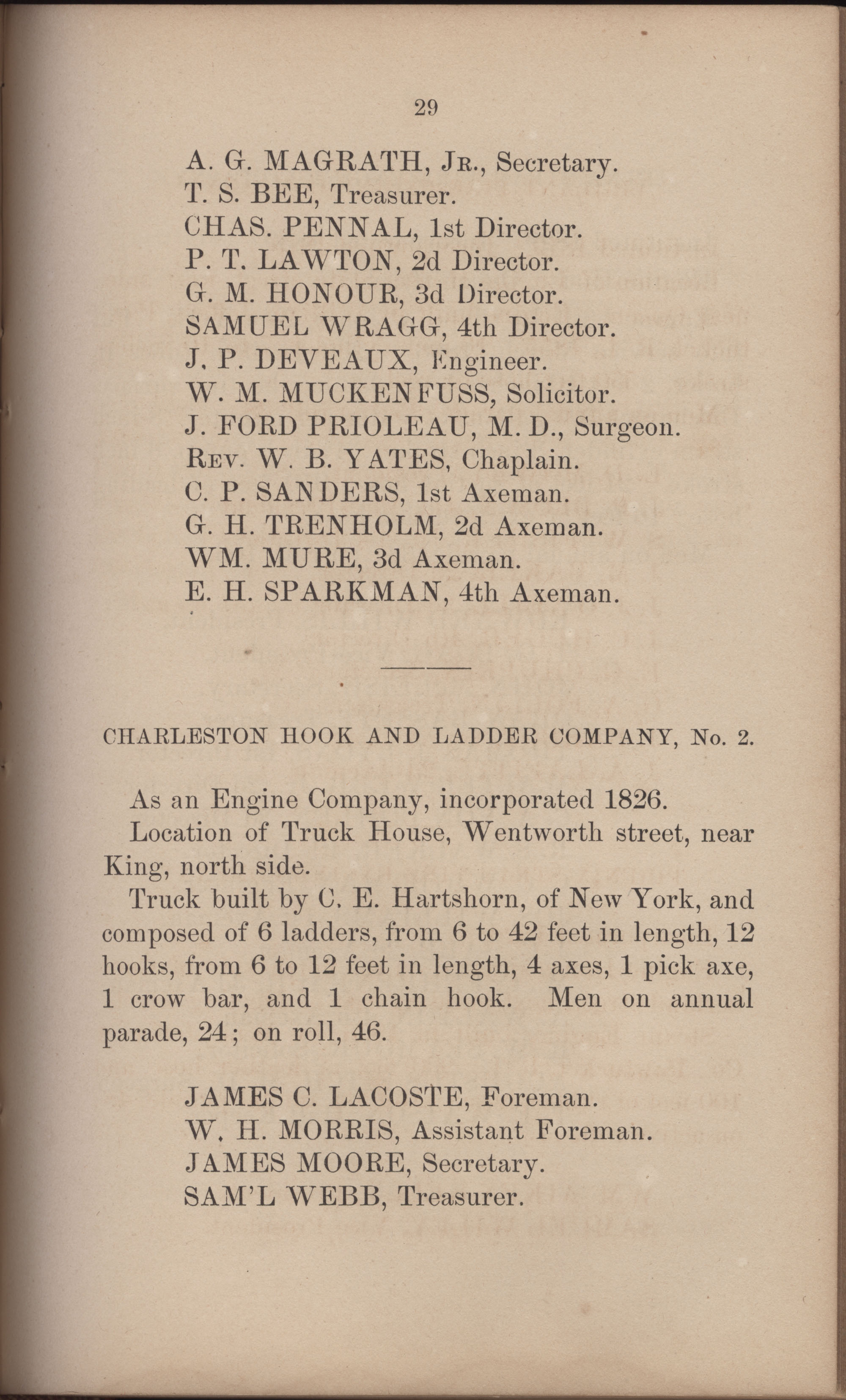 Annual Report of the Chief of the Fire Department of the City of Charleston, page 320