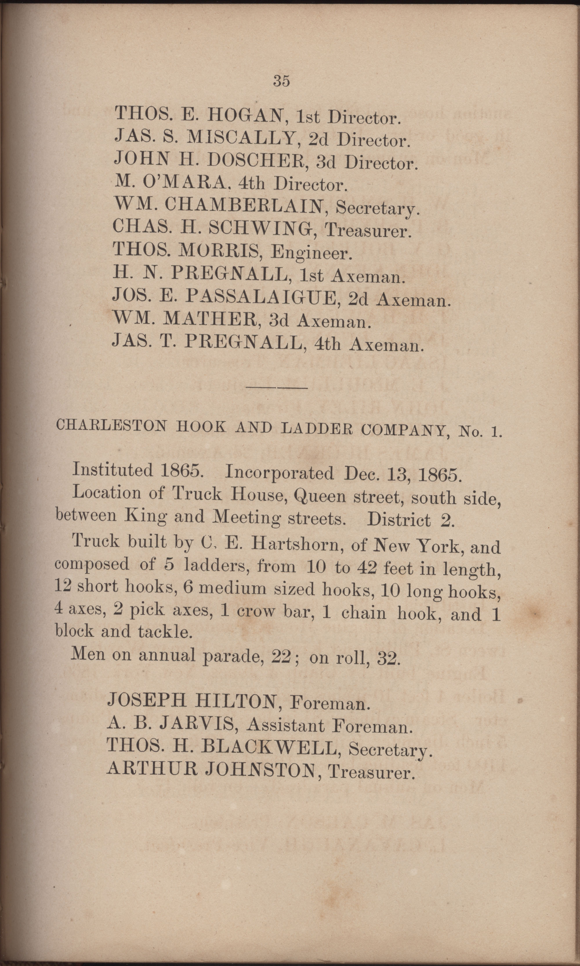 Annual Report of the Chief of the Fire Department of the City of Charleston, page 326