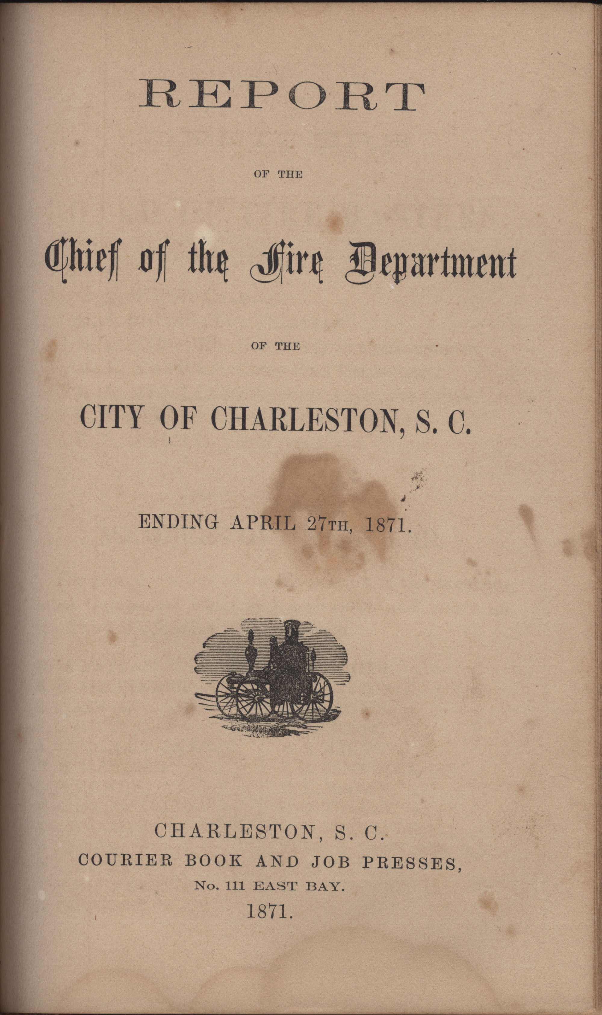 Annual Report of the Chief of the Fire Department of the City of Charleston, page 350
