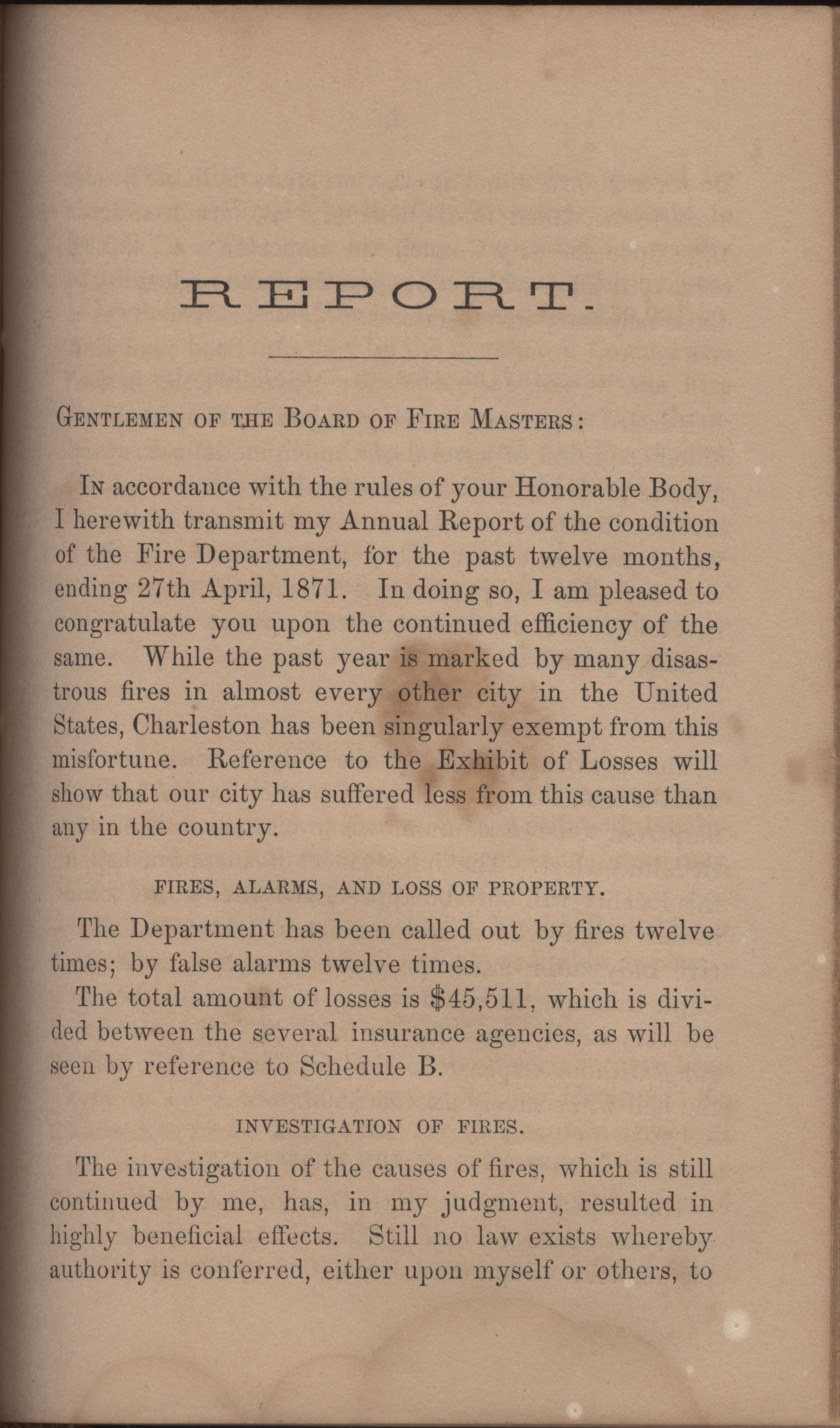 Annual Report of the Chief of the Fire Department of the City of Charleston, page 352