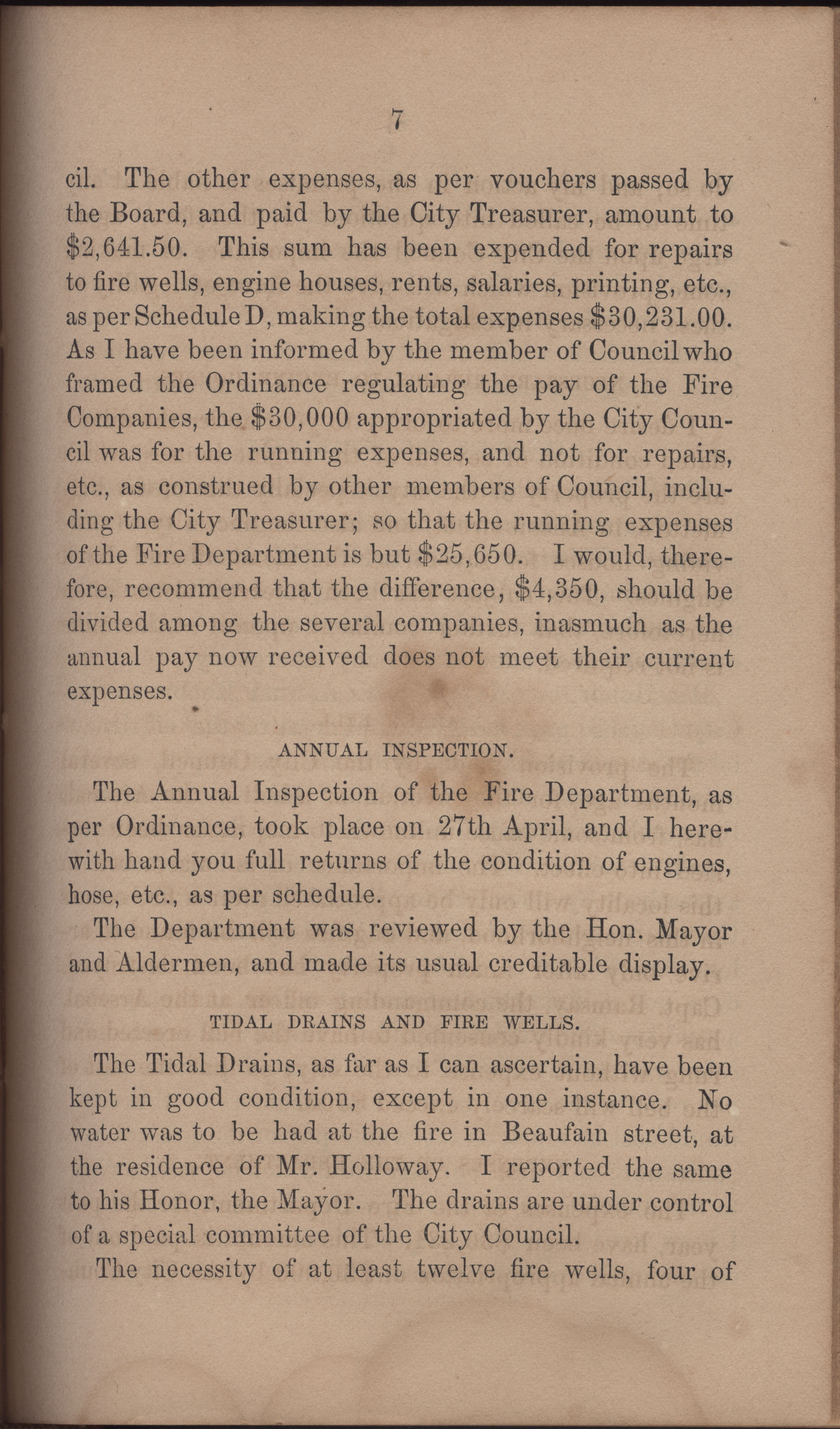 Annual Report of the Chief of the Fire Department of the City of Charleston, page 354