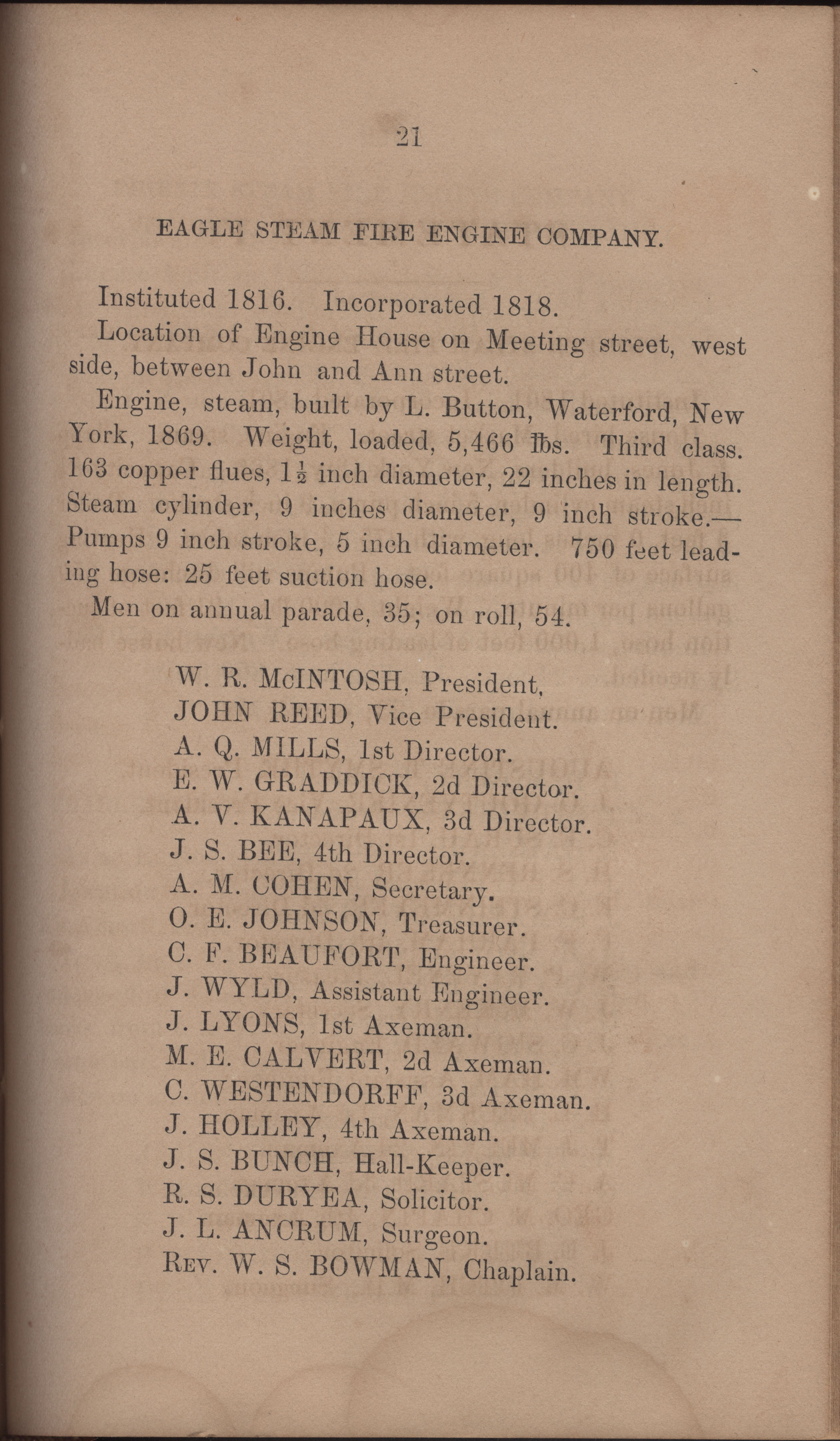 Annual Report of the Chief of the Fire Department of the City of Charleston, page 368