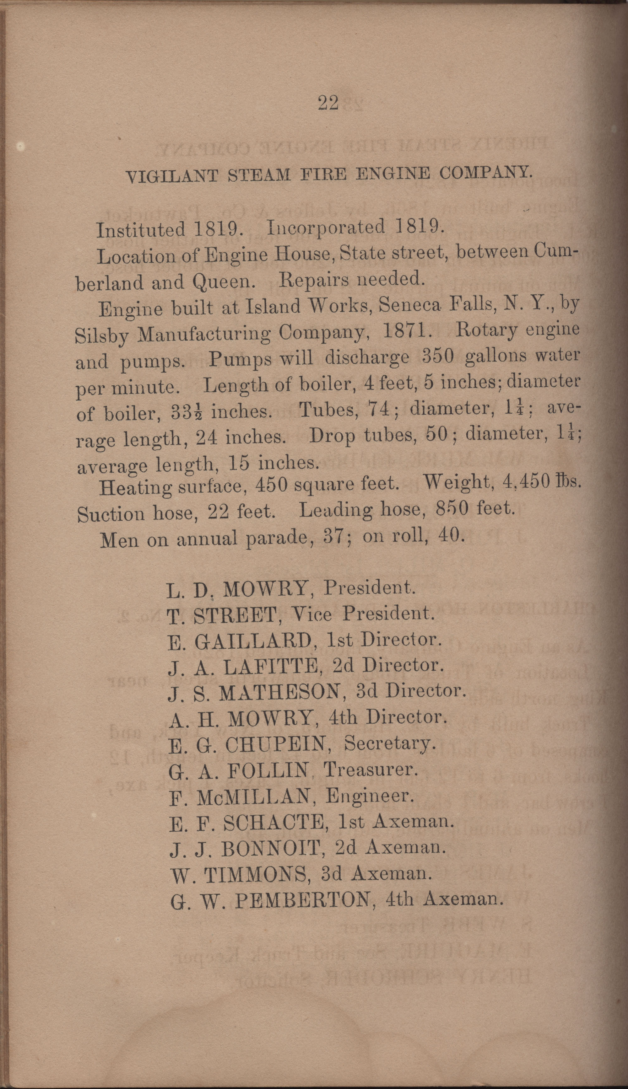 Annual Report of the Chief of the Fire Department of the City of Charleston, page 369