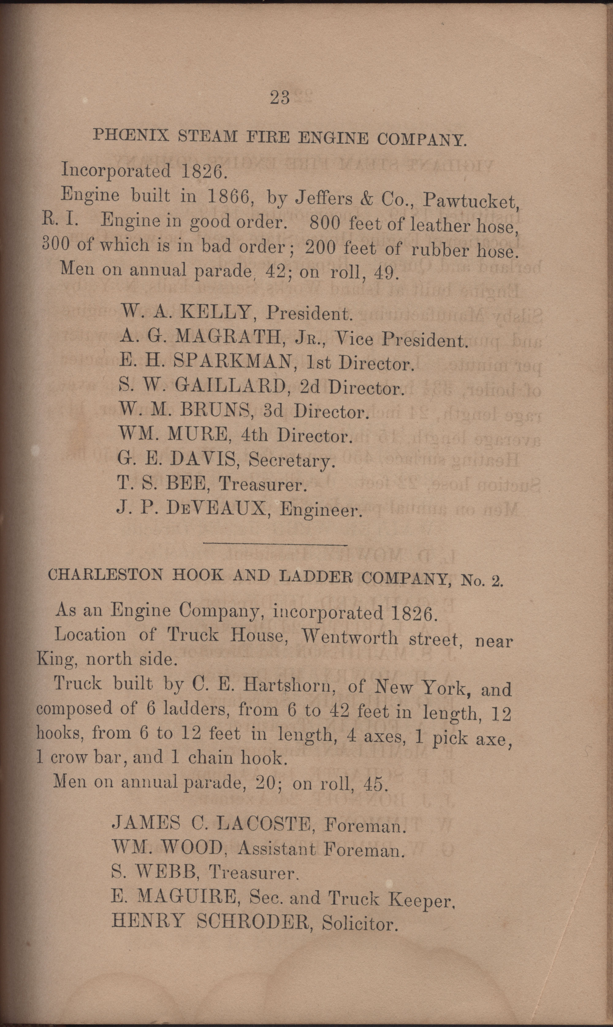 Annual Report of the Chief of the Fire Department of the City of Charleston, page 370
