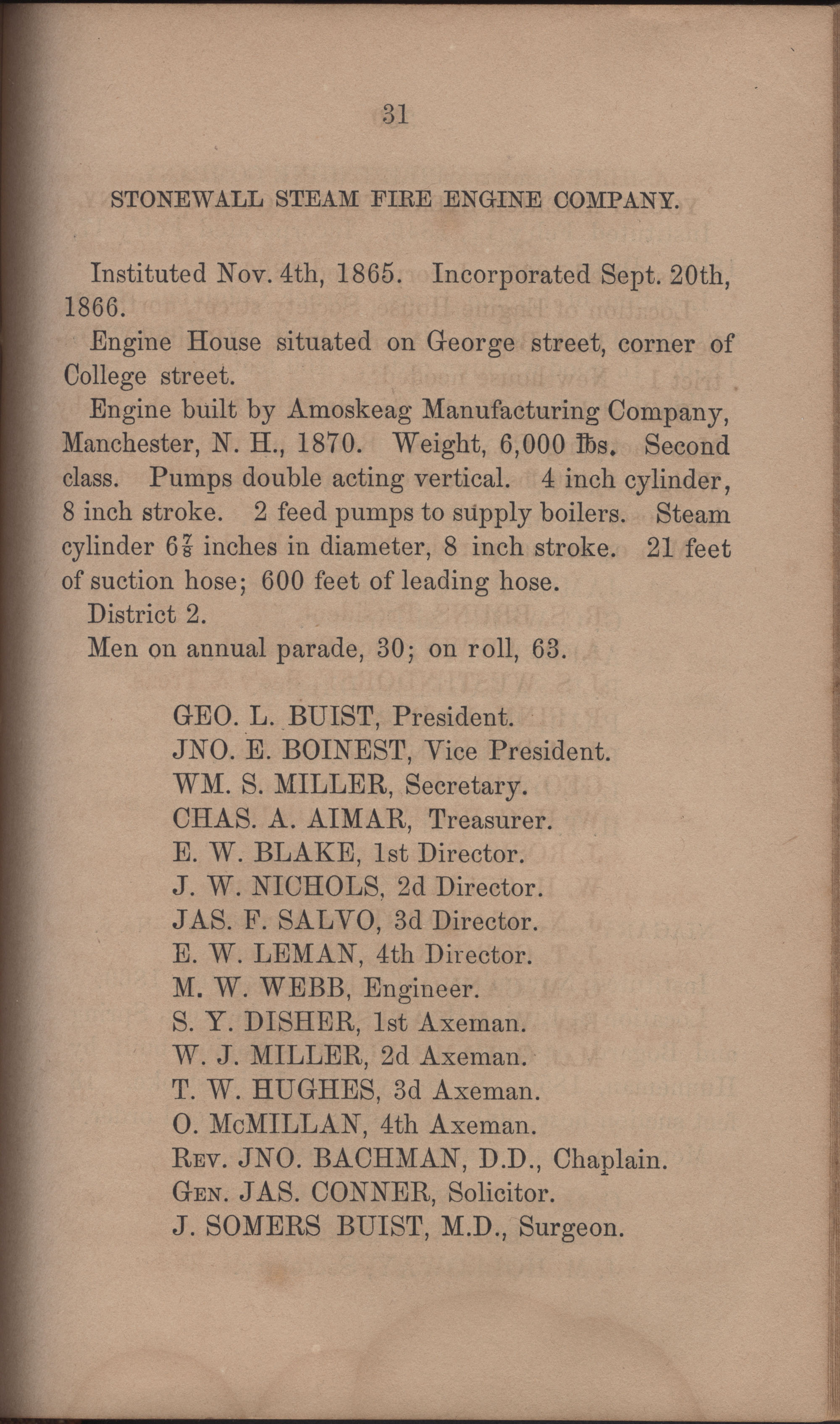 Annual Report of the Chief of the Fire Department of the City of Charleston, page 378