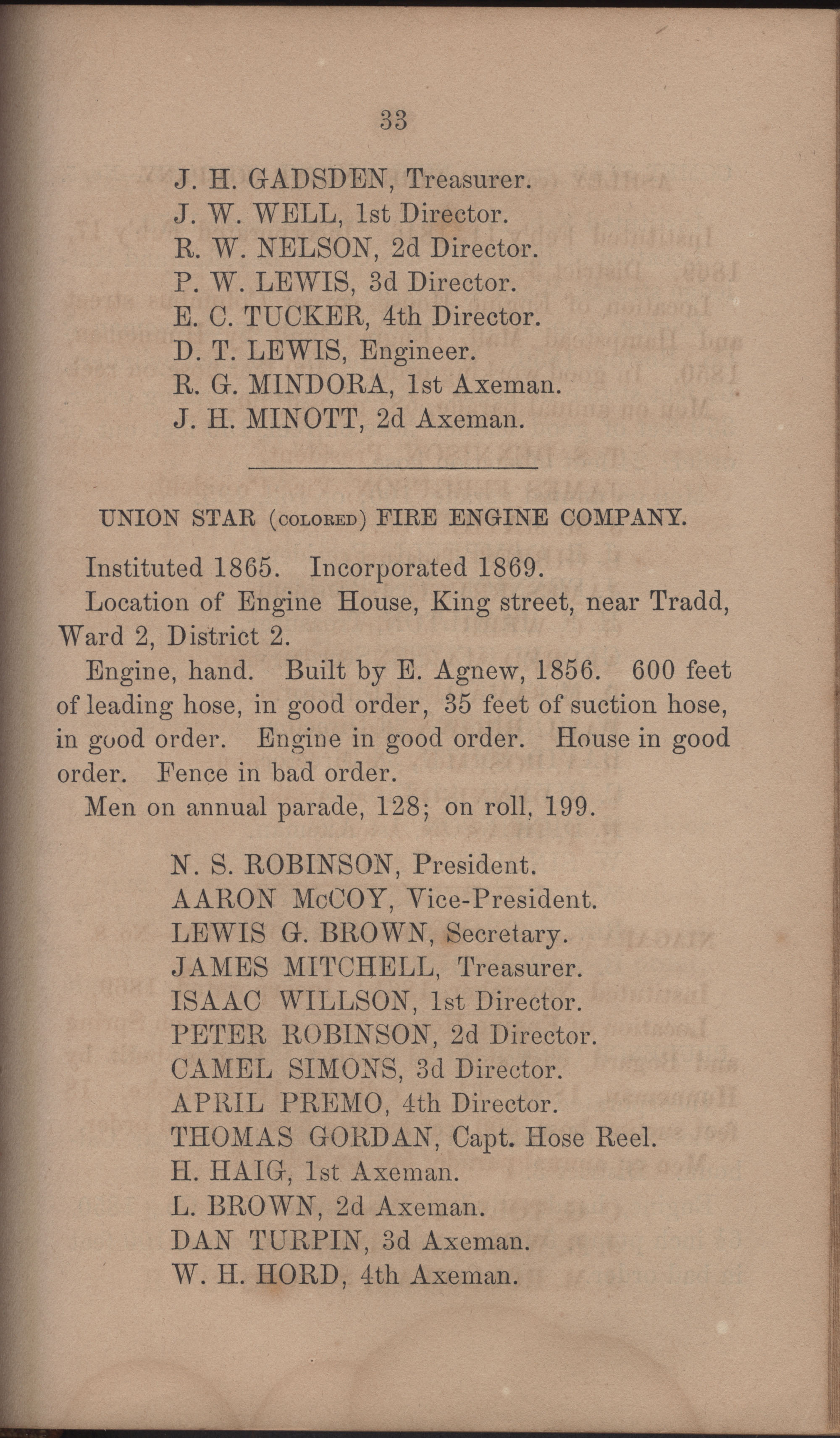 Annual Report of the Chief of the Fire Department of the City of Charleston, page 380