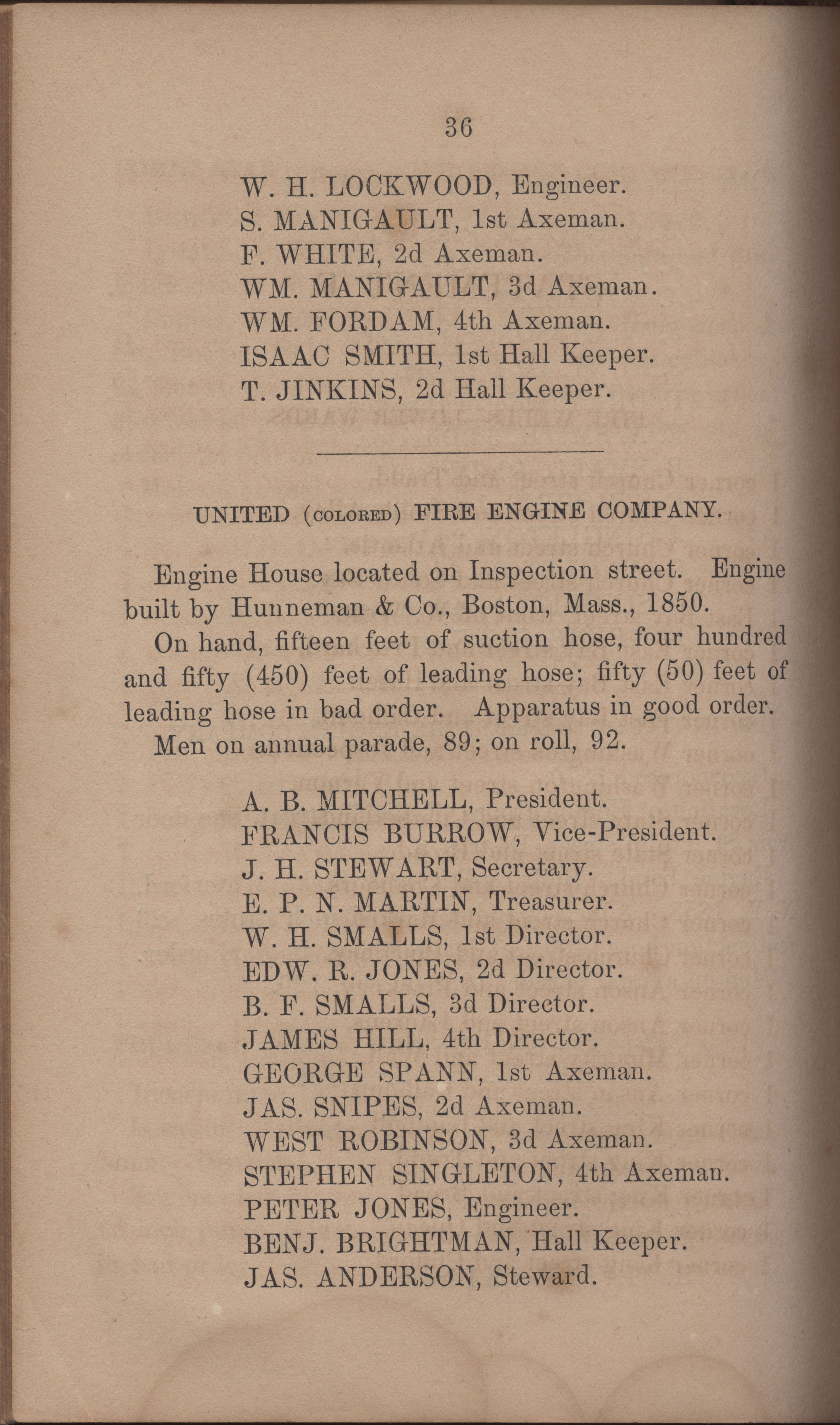 Annual Report of the Chief of the Fire Department of the City of Charleston, page 383